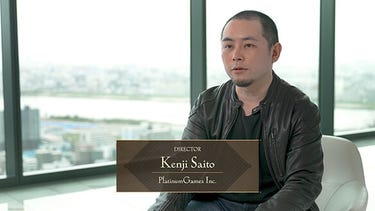 Kenji Saito, le directeur de BABYLON'S FALL, assis.