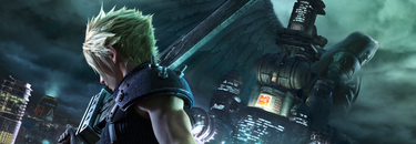 """""""Profile of Cloud holding the  Buster Sword"""""""