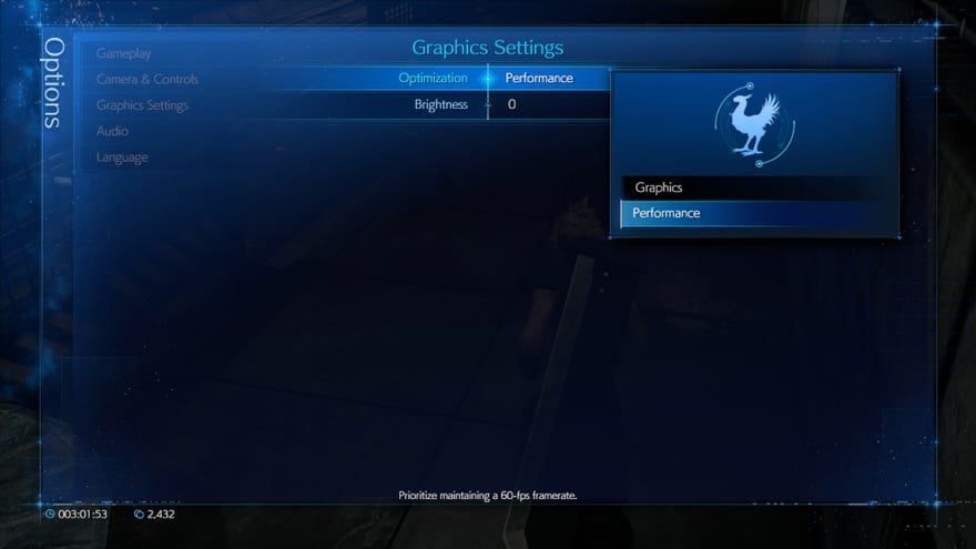 Graphic UI settings