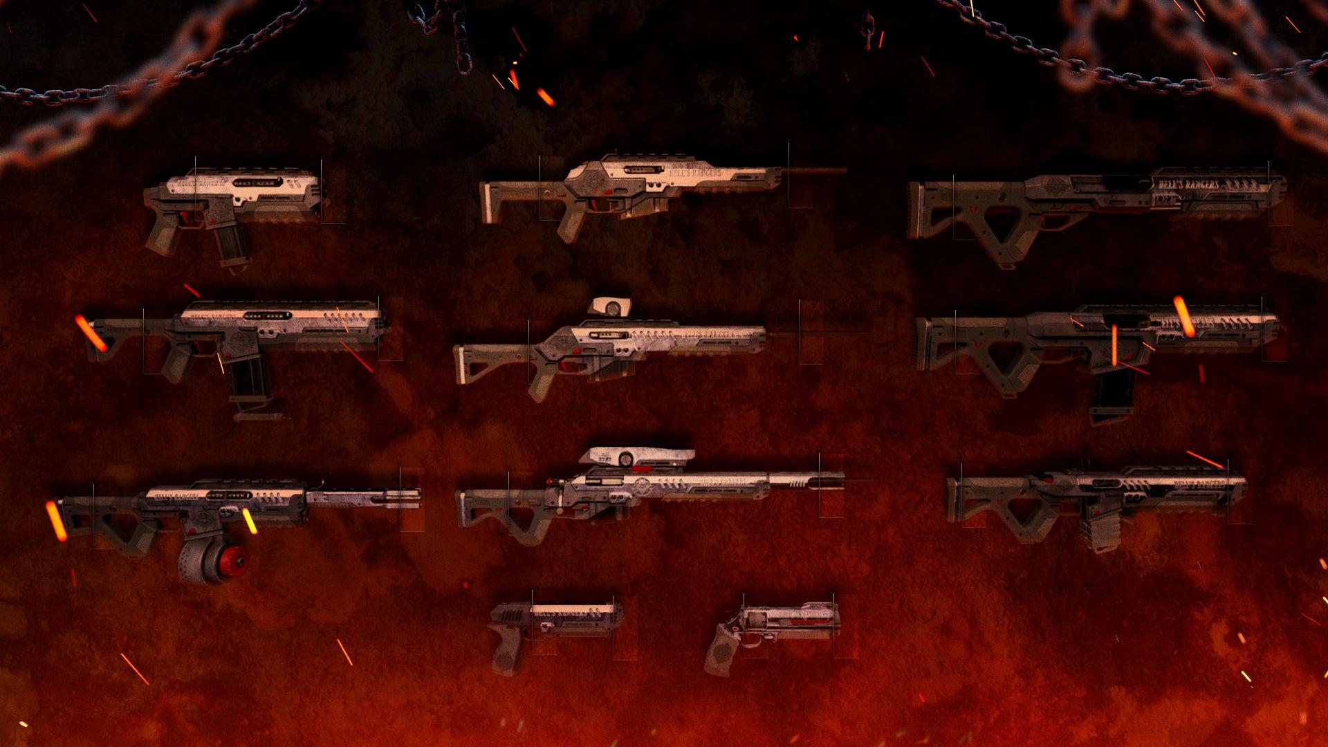 image of guns