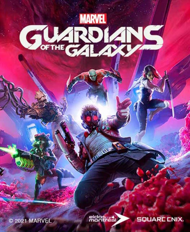 Packshot for the standard edition of Marvel's Guardians of the Galaxy