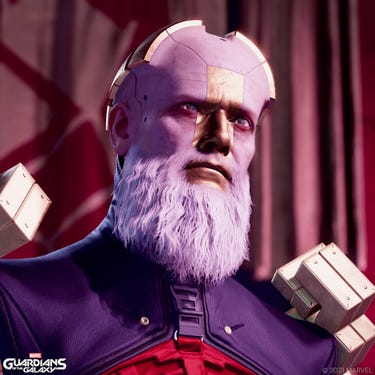Close-up of the Grand Unifier Raker. He looks resolute.