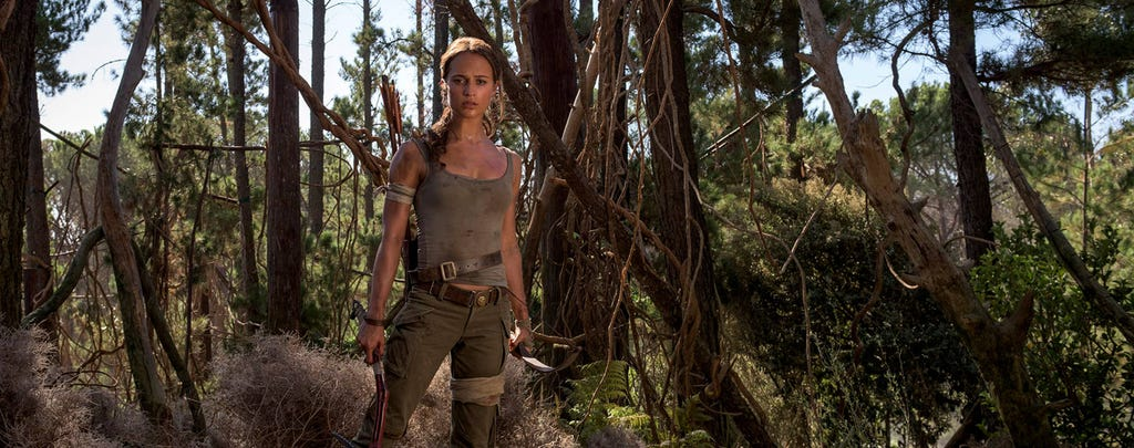 A picture of Alicia Vikander from the Tomb Raider movie