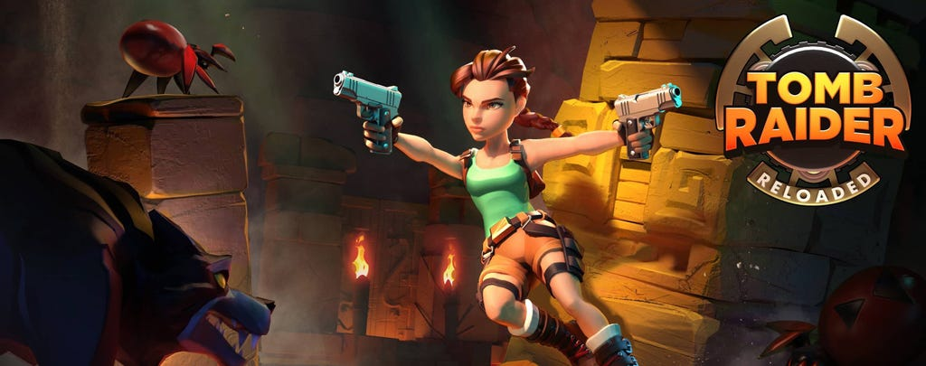 A screenshot from the Tomb Raider Reloaded trailer reveal