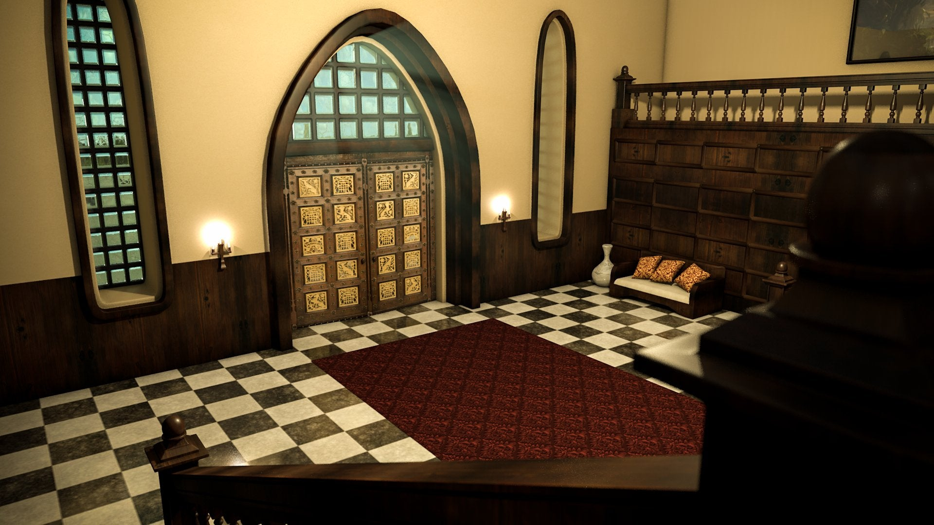 A graphic of a fan-made Croft Manor render by Universo Croft