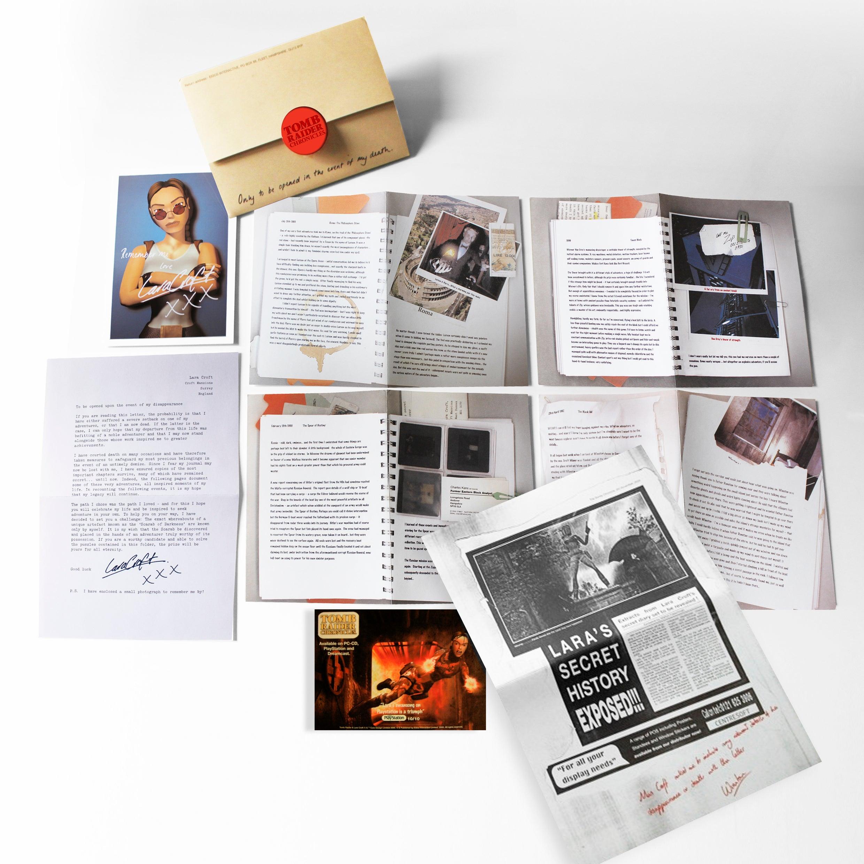 A photo of the original Tomb Raider Chronicles Press Kit.