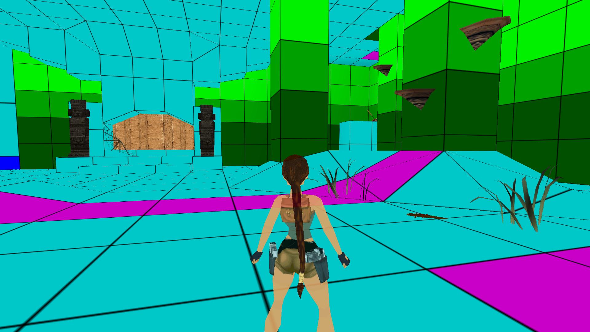 A screenshot of TRLE custom level Dreaming for a Revelation