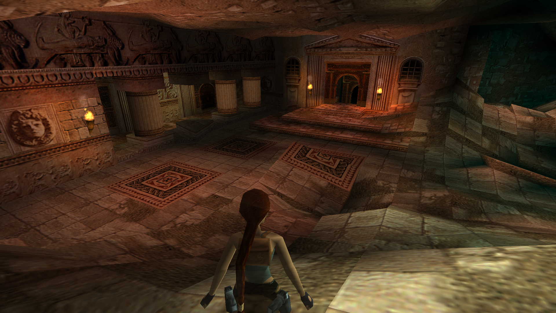 A screenshot from TRLE custom level Catacomb Towers by Piega