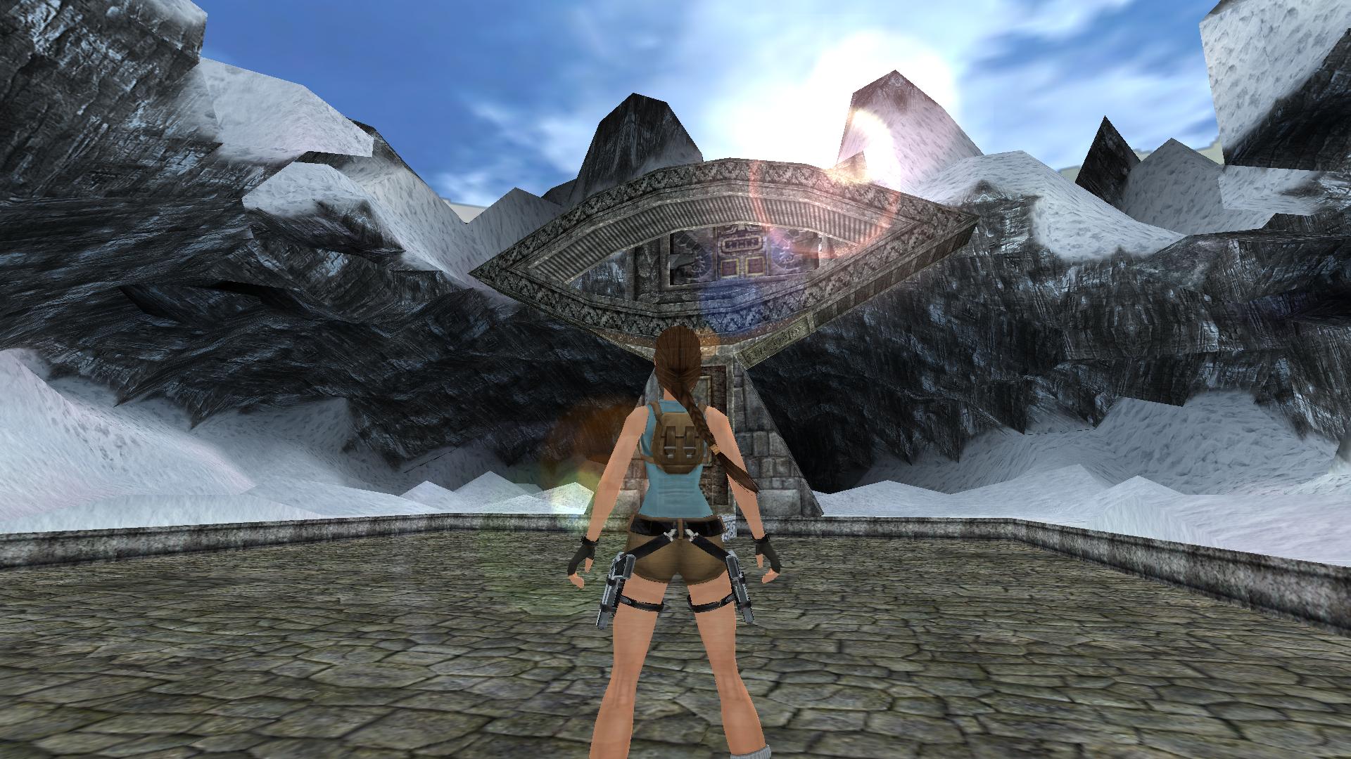 A screenshot of TRLE custom level Inti is watching you