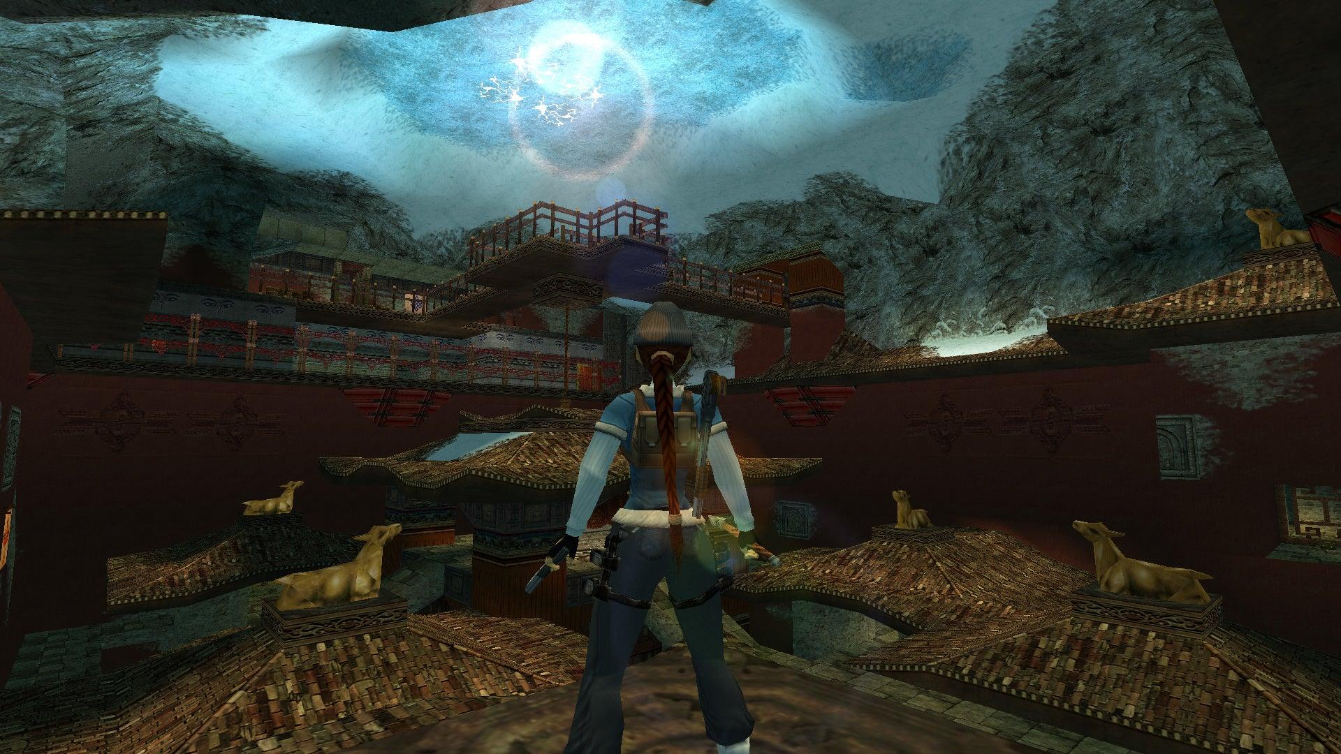A screenshot of TRLE custom level Himalayan Mysteries