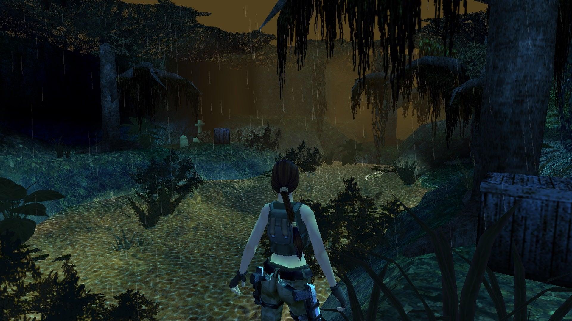 A screenshot from Tomb Raider Level Editor custom level Fading Light