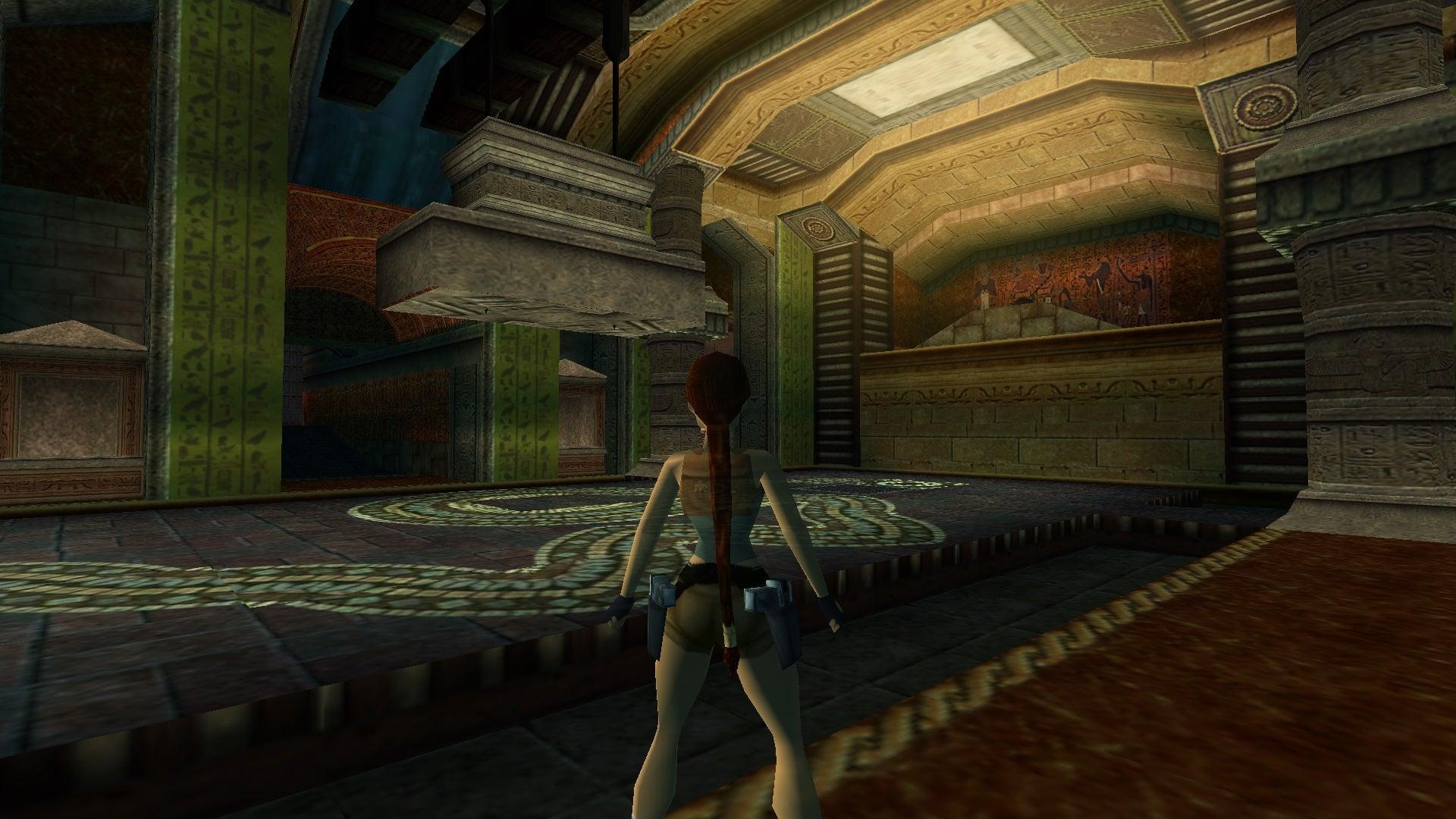 A screenshot from Tomb Raider Level Editor custom level Tomb of Menel