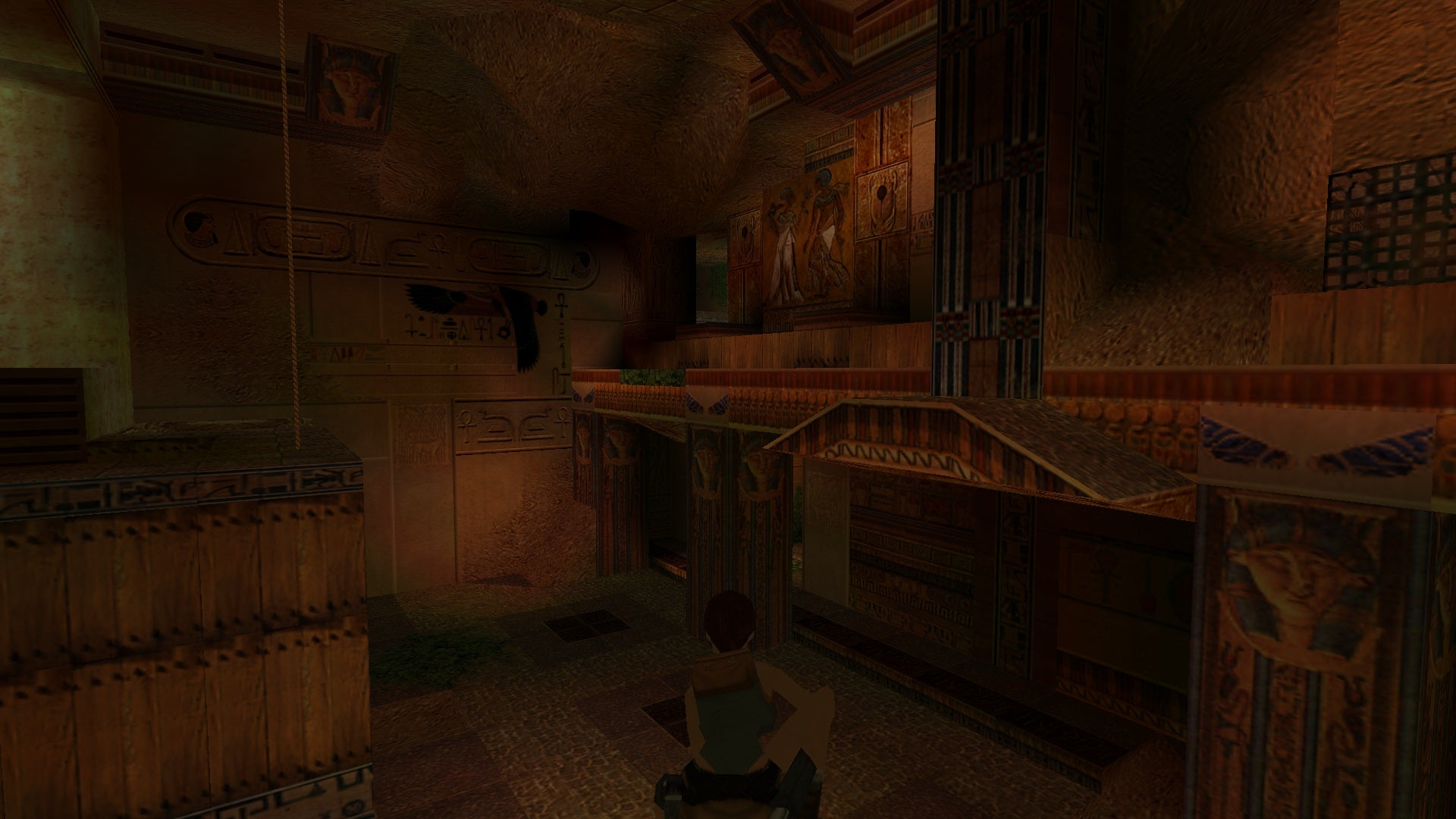 A screenshot from Tomb Raider Level Editor custom level Tomb of Achnaton