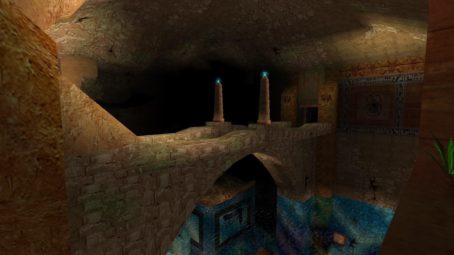 A screenshot from Tomb Raider Level Editor custom level Quattuor