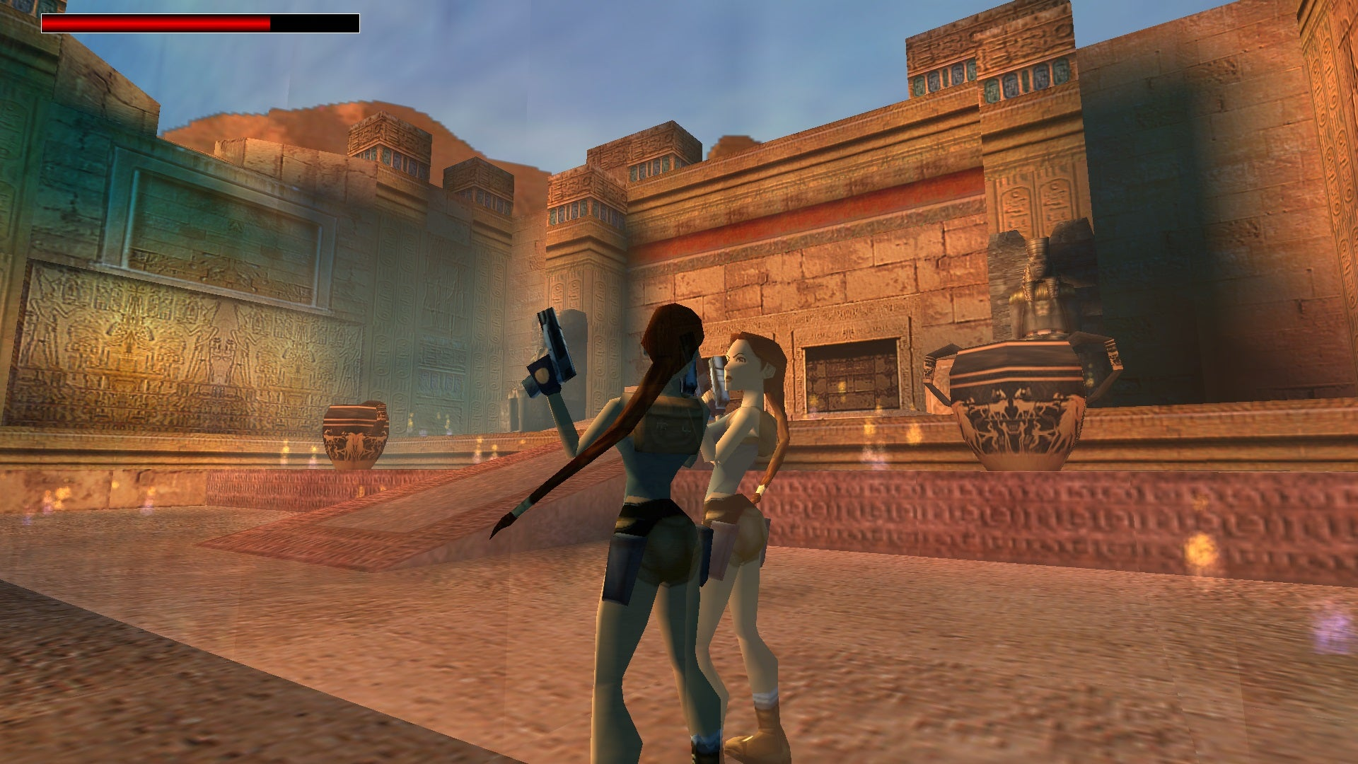 A screenshot from Tomb Raider Level Editor custom level Heirs of the Medjai
