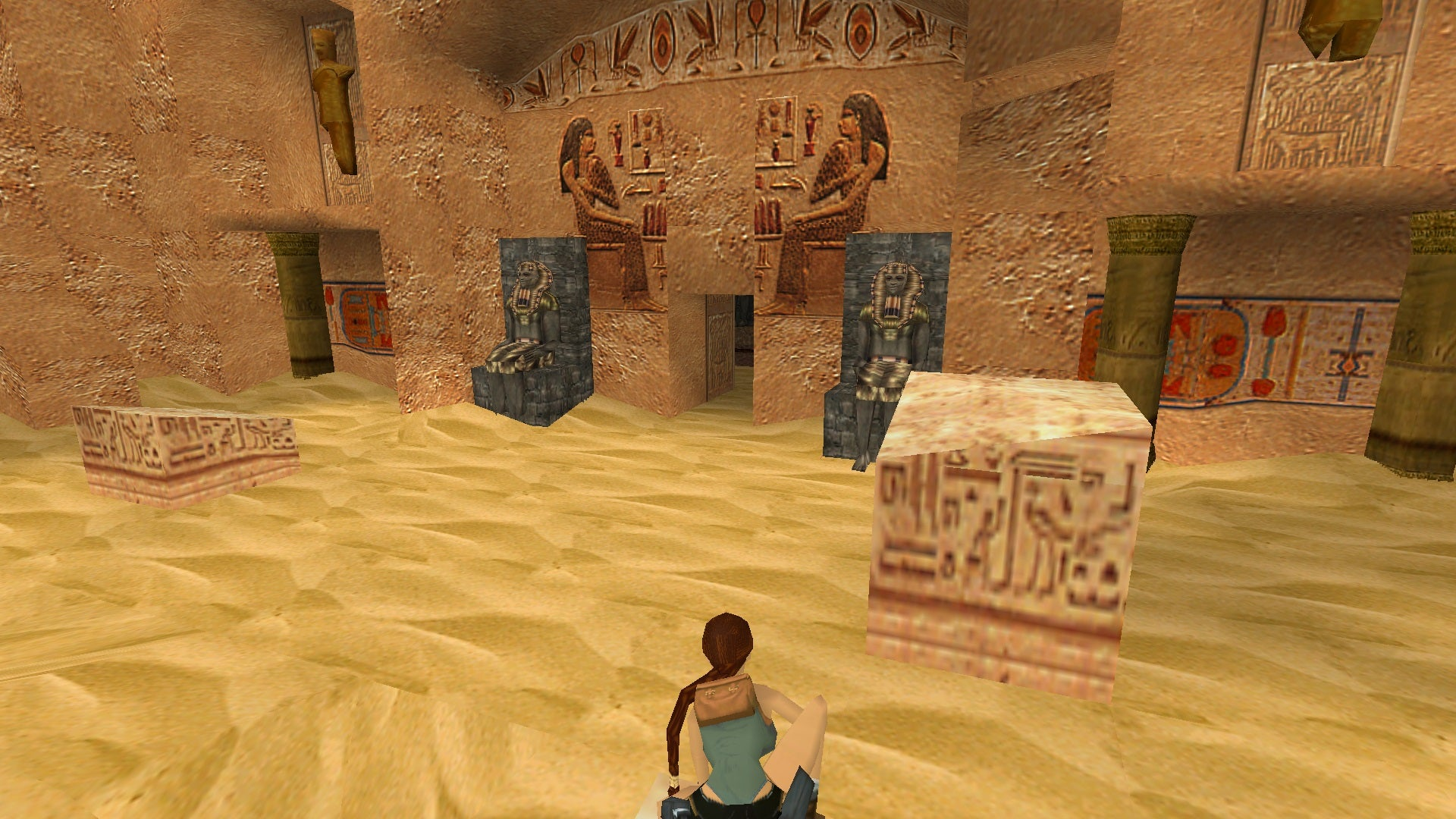 A screenshot from Tomb Raider Level Editor custom level The Lost Valley