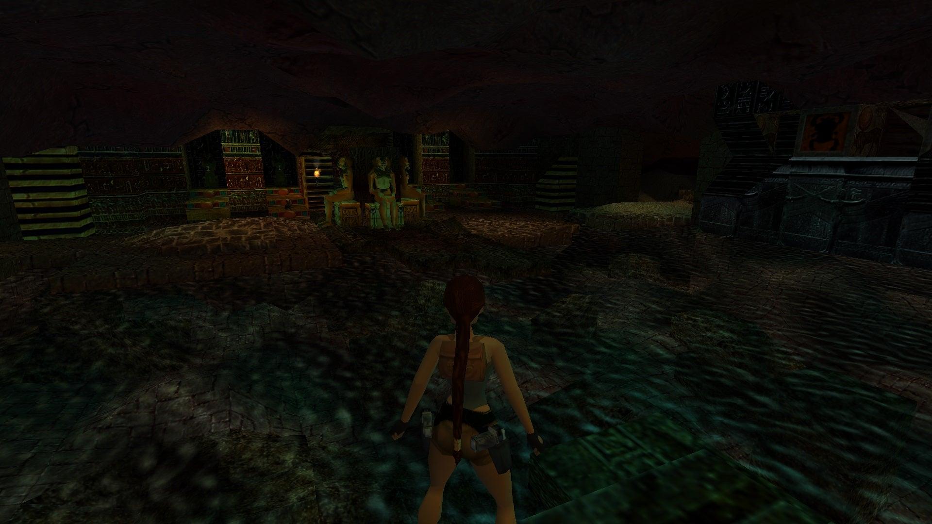 A screenshot from Tomb Raider Level Editor custom level Temple of Hathor