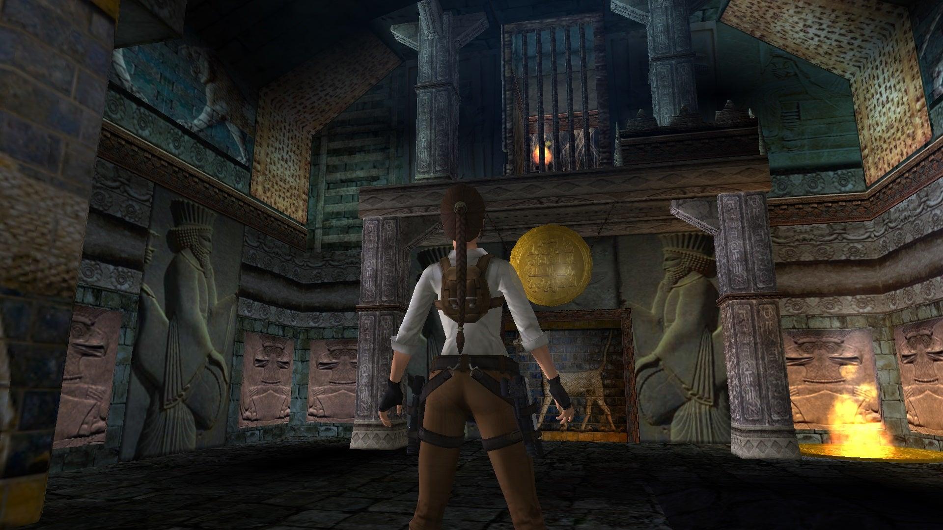 A screenshot from Tomb Raider Level Editor custom level Dragon of Alexandria