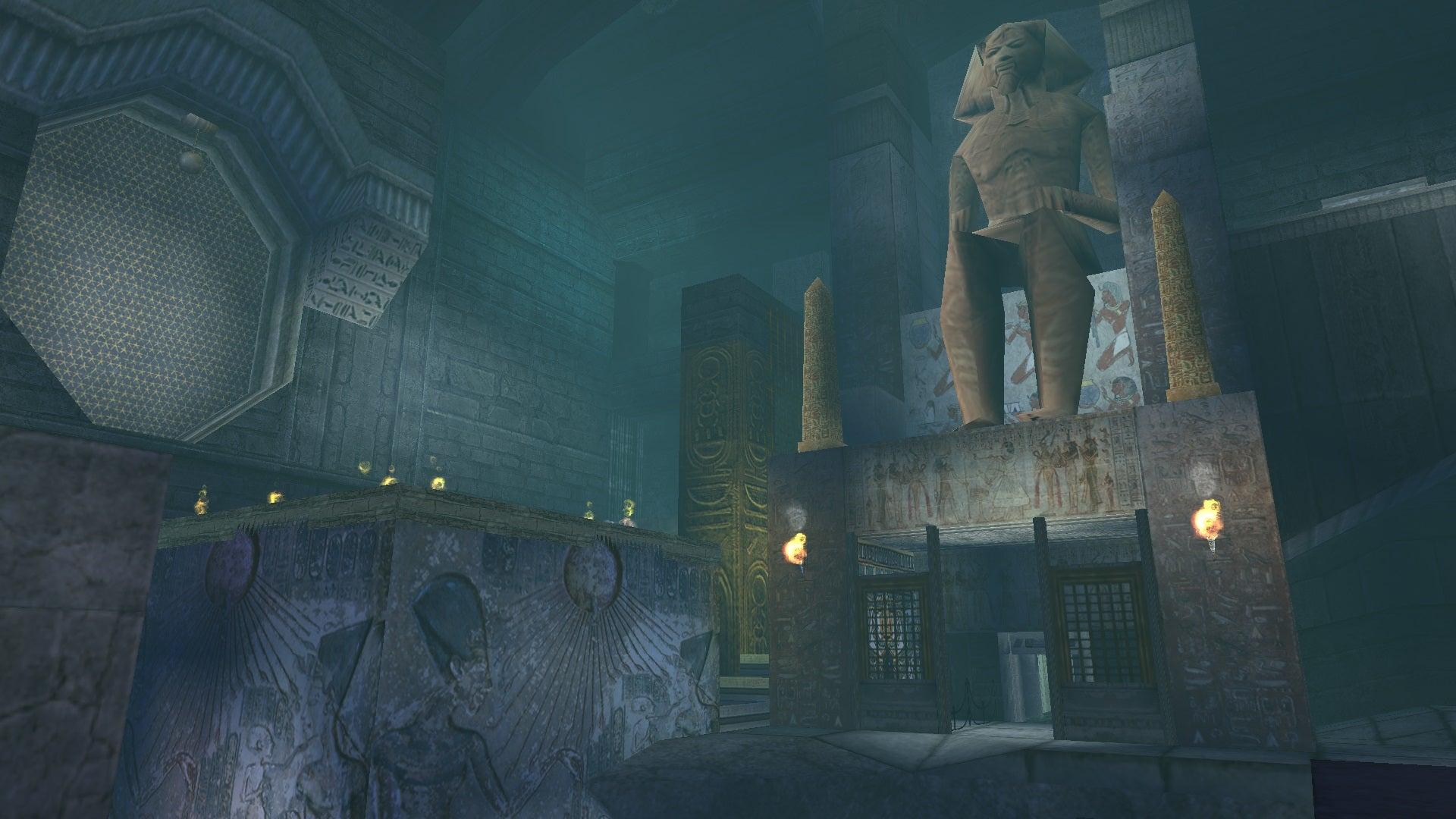A screenshot from Tomb Raider Level Editor custom level Lara Croft and the Forgotten Scribe