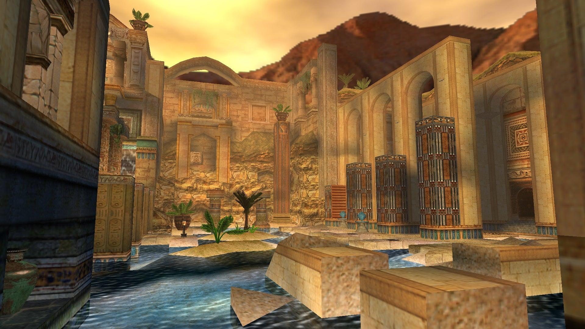 A screenshot from Tomb Raider Level Editor custom level Aqua Sanctuary
