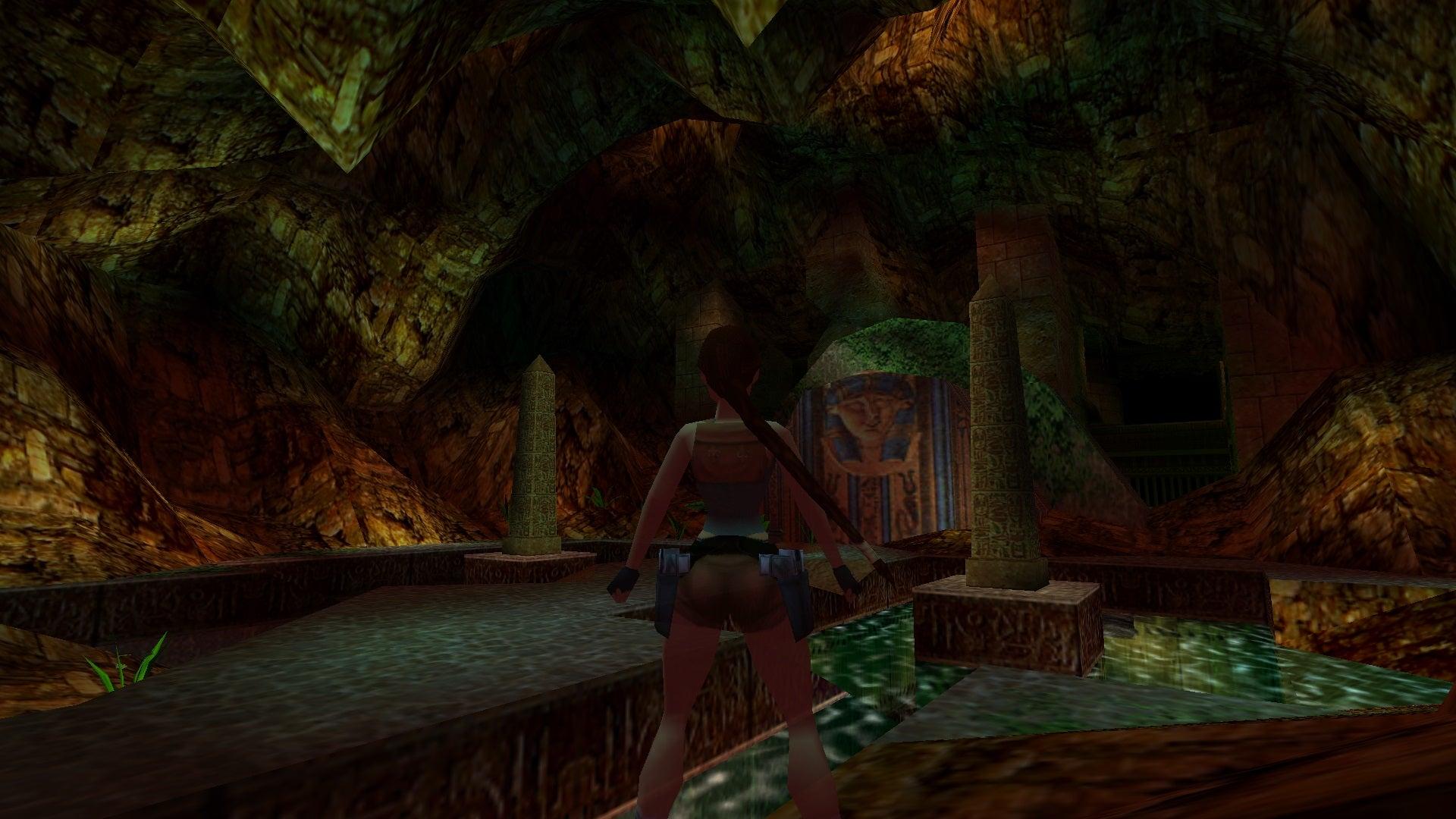 A screenshot from Tomb Raider Level Editor custom level Trial of Tefnut