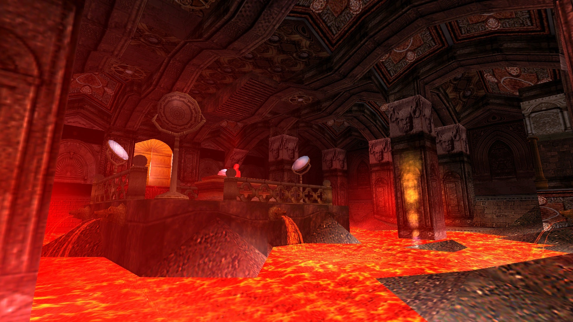 A screenshot from Tomb Raider Level Editor custom level Sanctuary of Fire