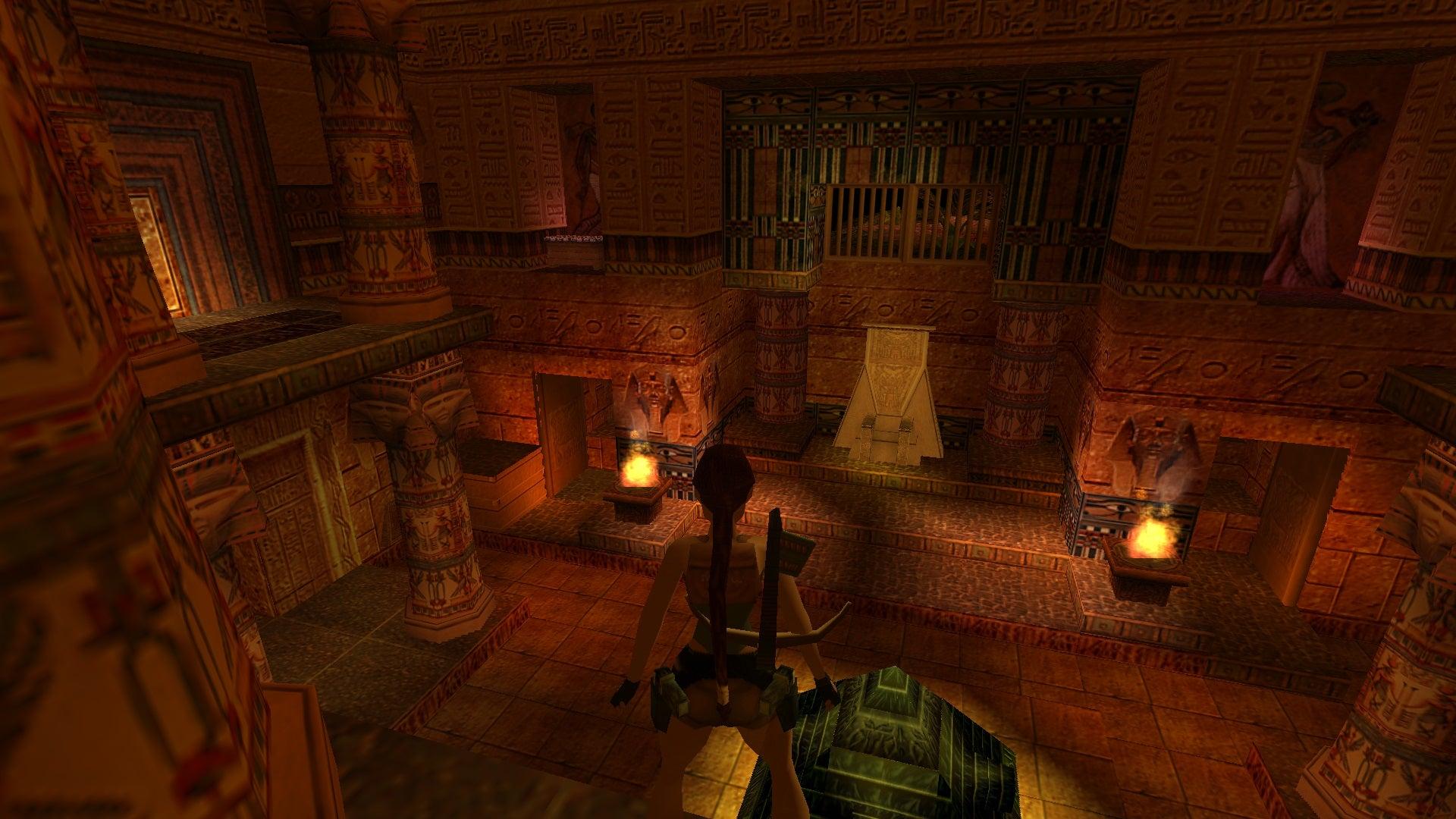 A screenshot from Tomb Raider Level Editor custom level Black Palace