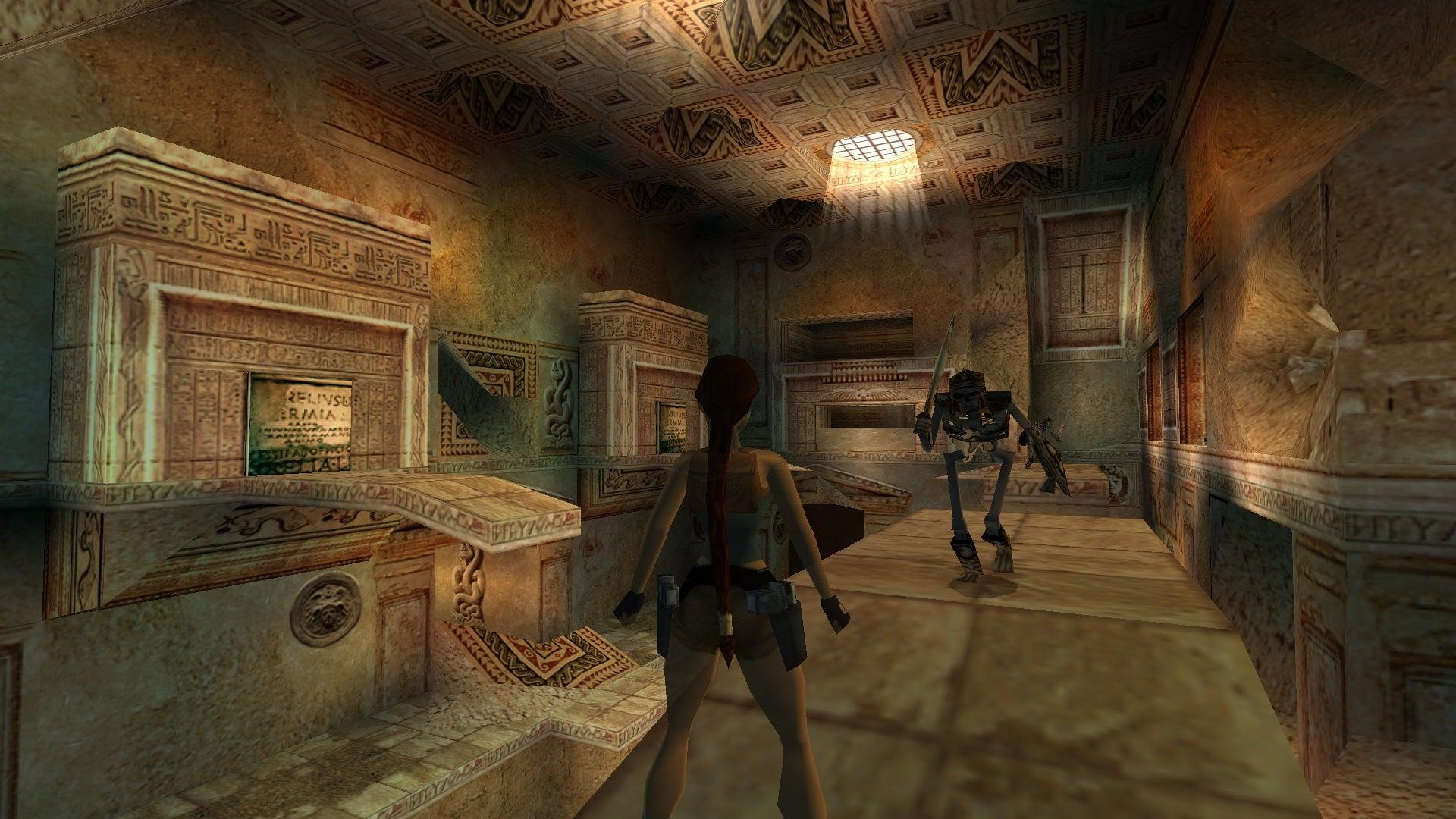 A screenshot from Tomb Raider Level Editor custom level Poseidon Apparatus