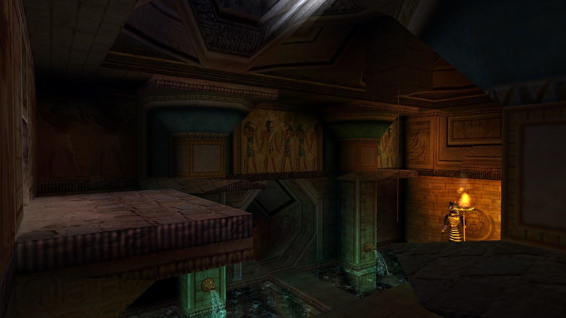 A screenshot from Tomb Raider Level Editor custom level The Pyramid of Horus