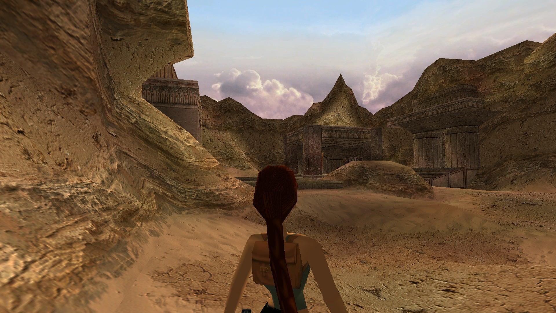 A screenshot from Tomb Raider Level Editor custom level The Journey