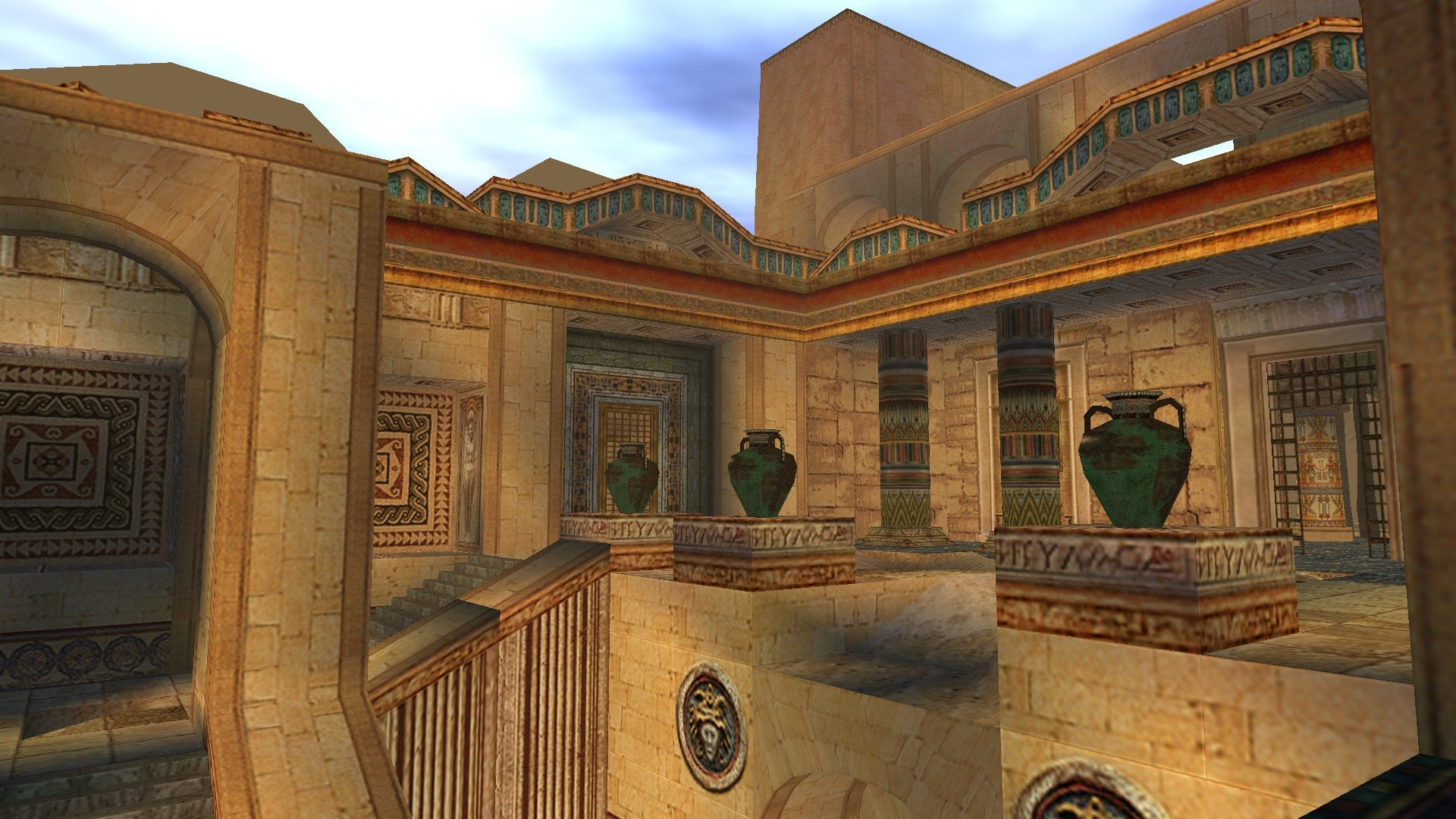 A screenshot from Tomb Raider Level Editor custom level Temple of Isis