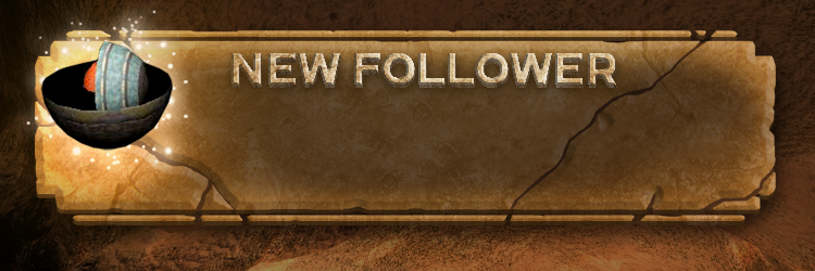 """A stream graphic overlay with text """"NEW FOLLOWER"""""""