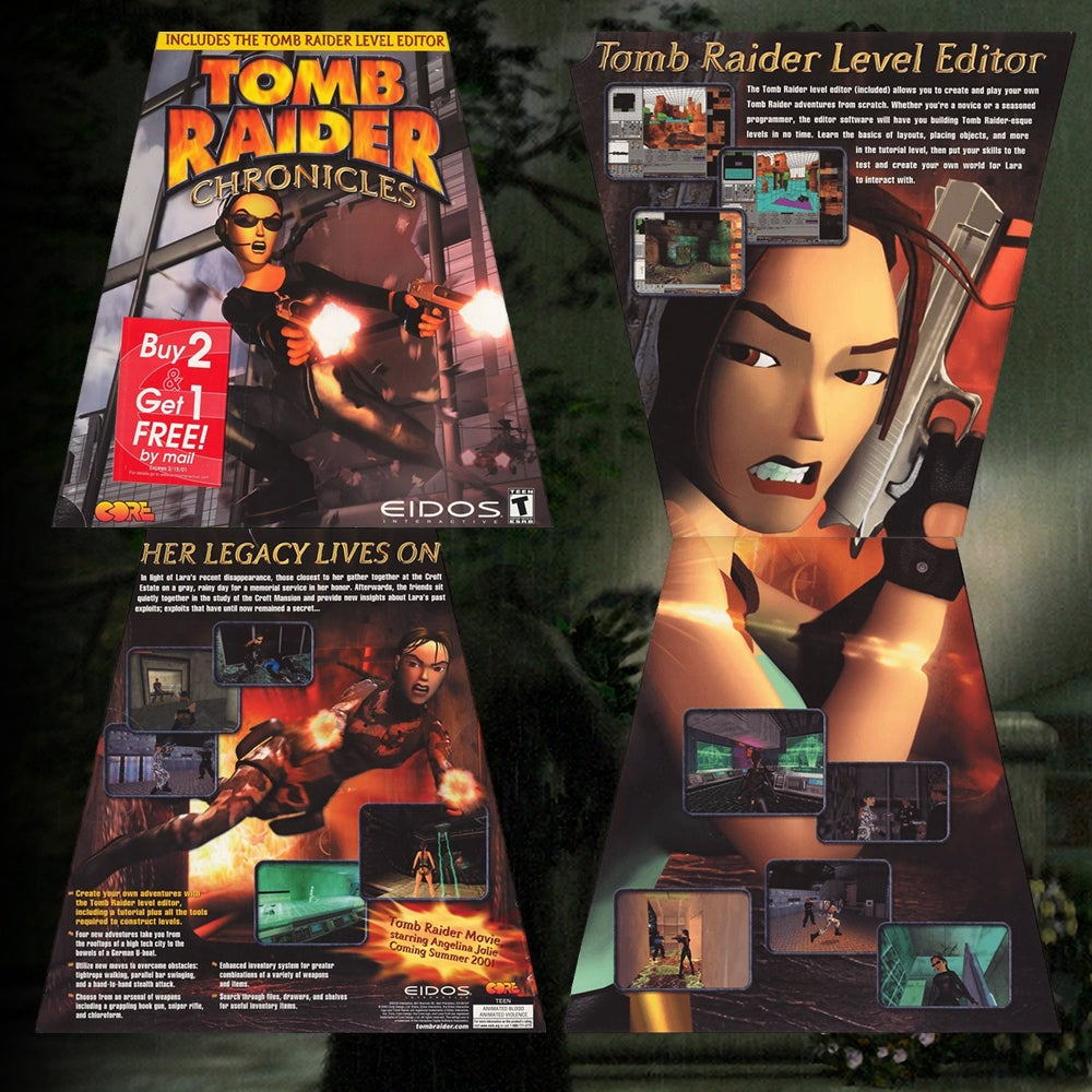 A collage of the US PC Box art for Tomb Raider Chronicles.