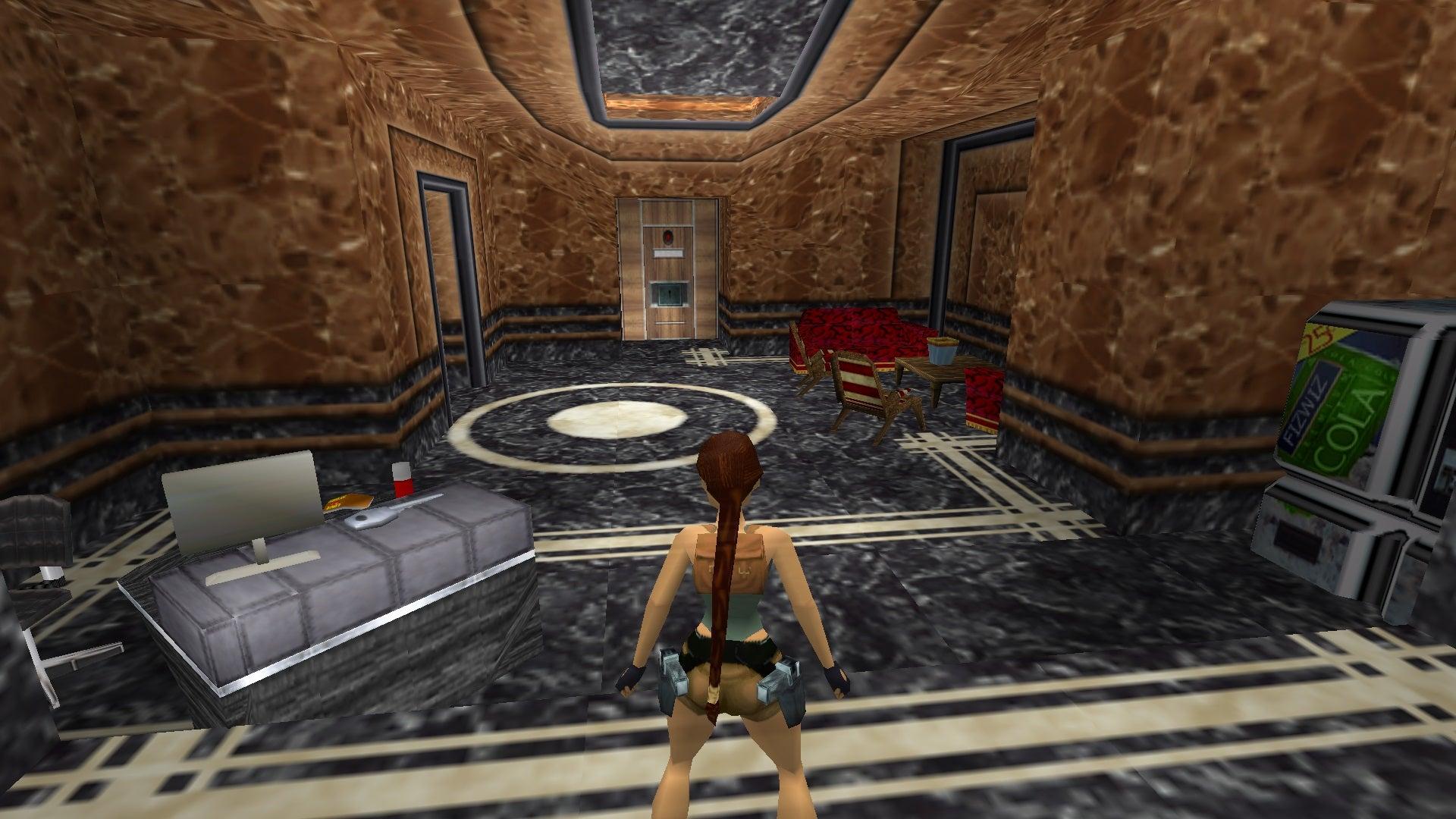 A screenshot from the Tomb Raider custom level called V.C.S.L.2