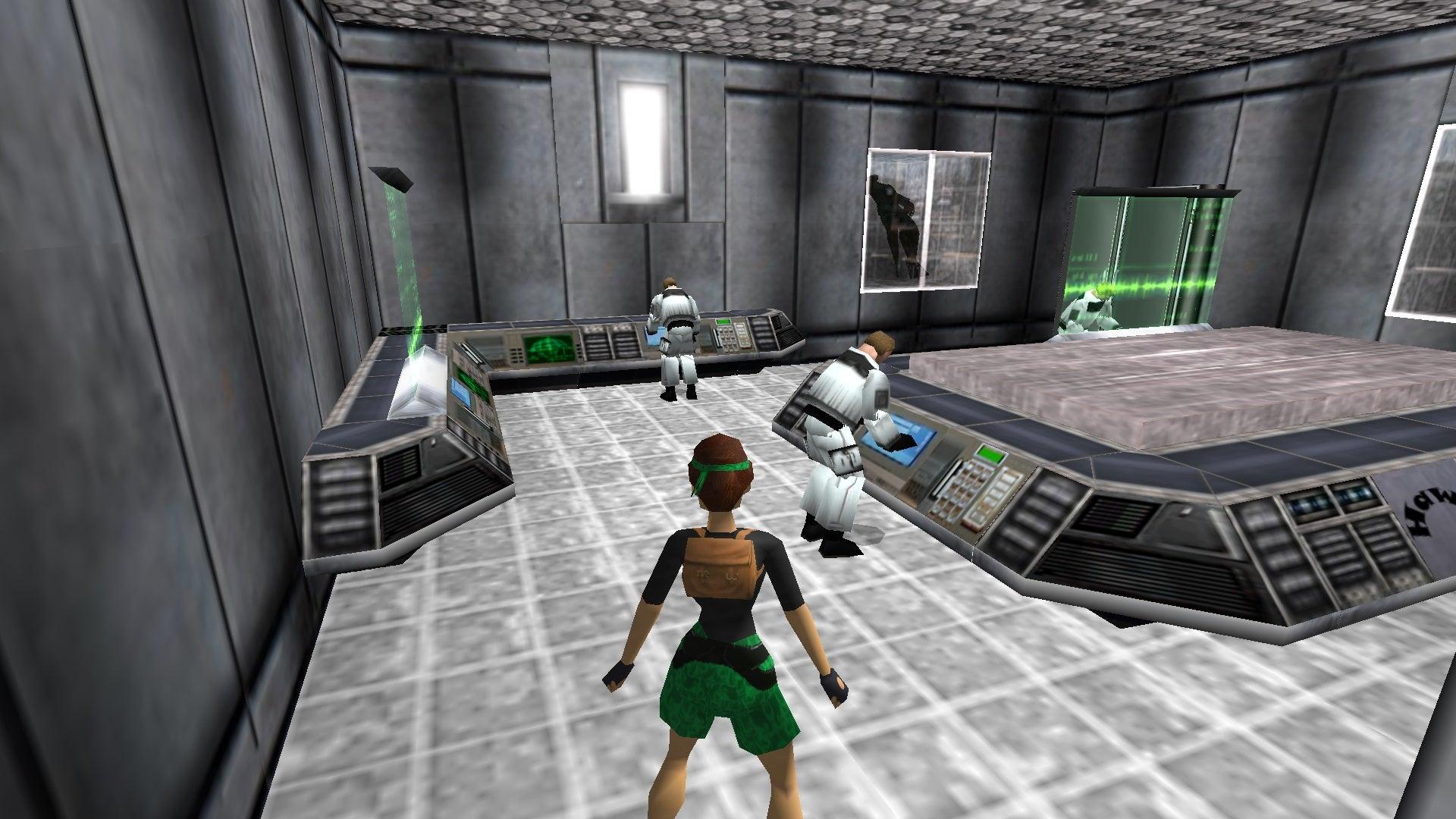 A screenshot from the Tomb Raider custom level called Atlantis 2