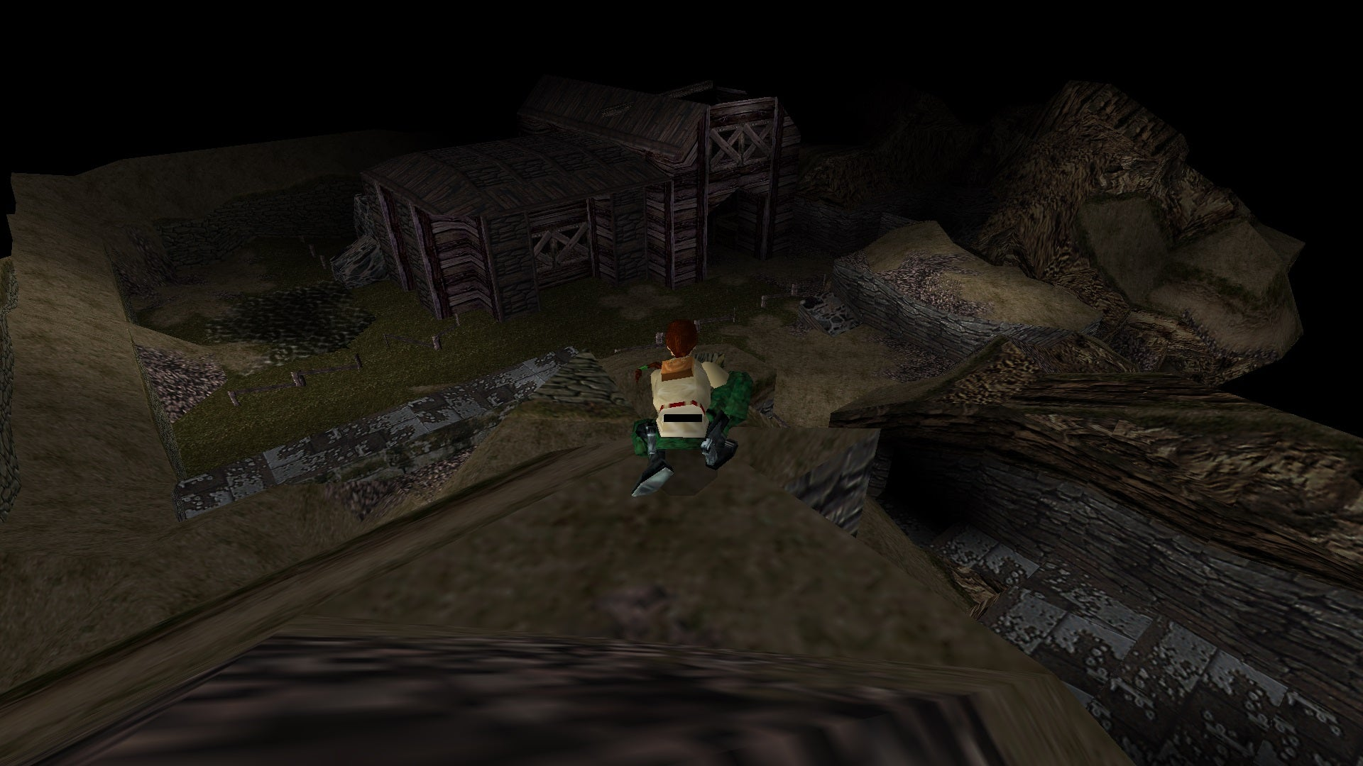 A screenshot from the Tomb Raider custom level called The Ring