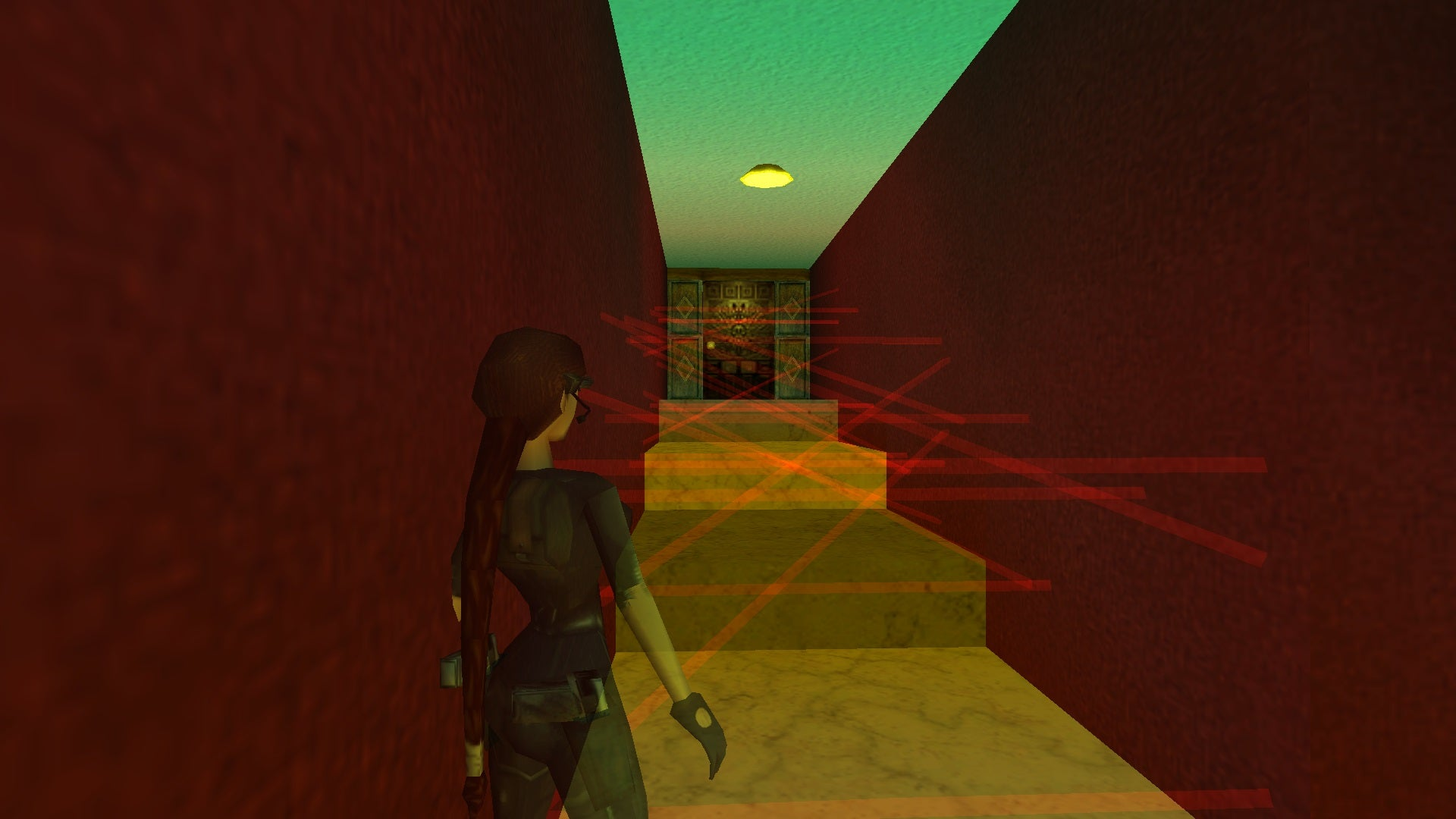 A screenshot from the Tomb Raider custom level called Budapest
