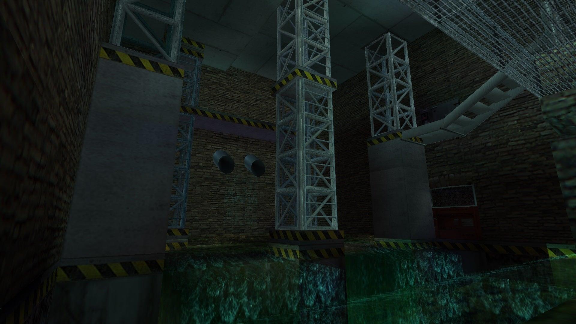 A screenshot from the Tomb Raider custom level called Sanmonto UK Ltd.