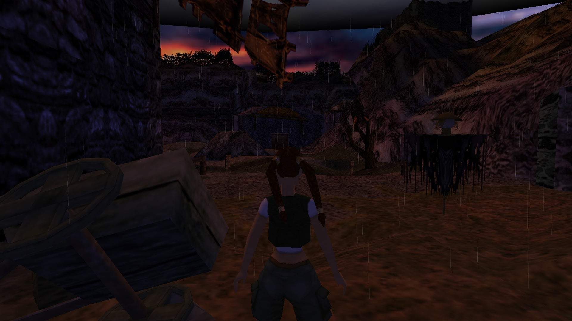 A screenshot from the Tomb Raider custom level called The Harp of Dagda