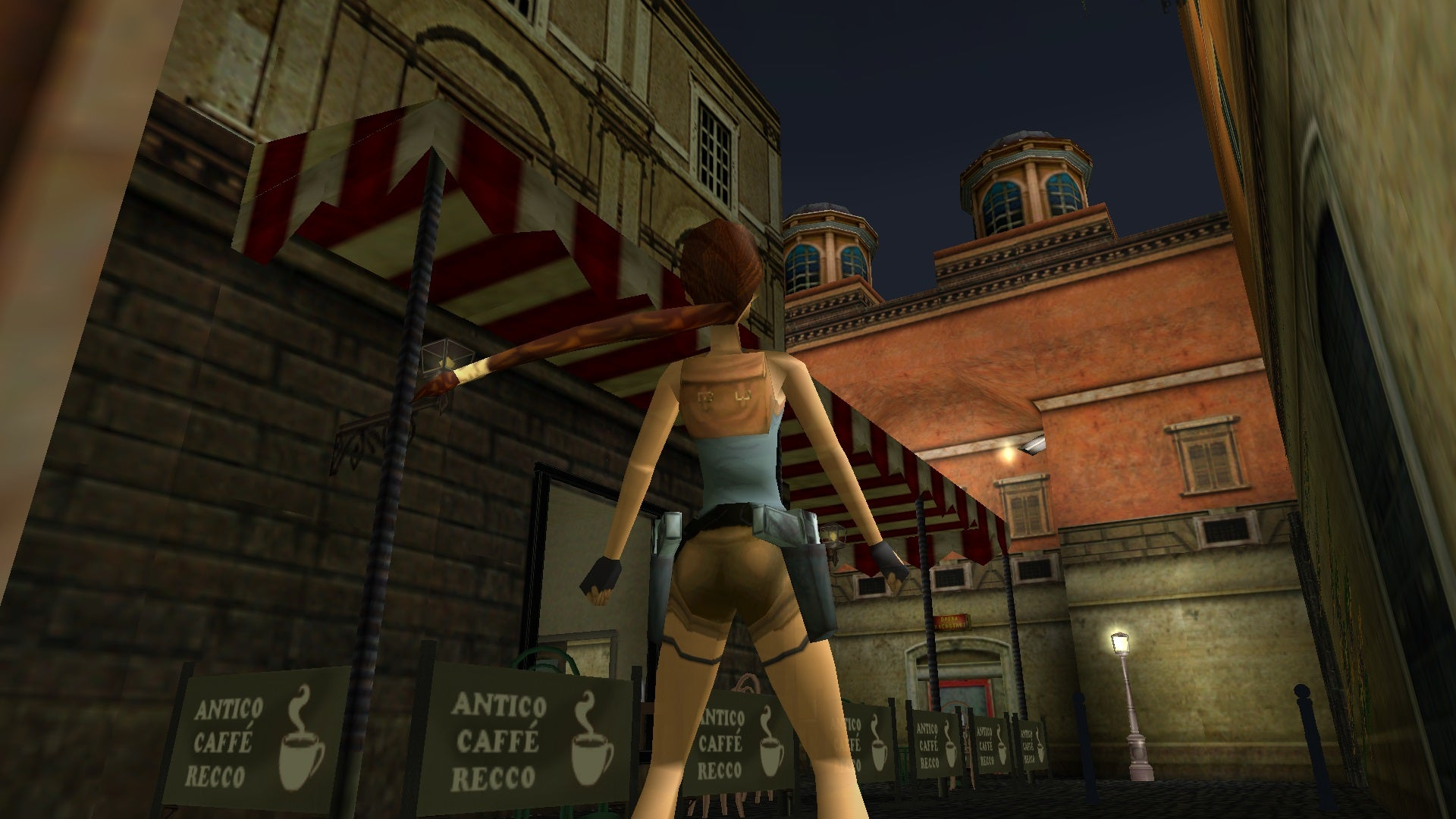 A screenshot from the Tomb Raider custom level called Rome