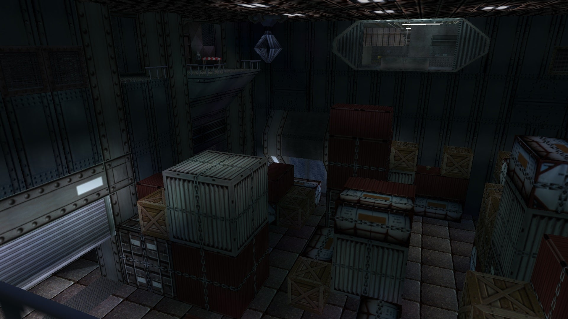 A screenshot from the Tomb Raider custom level called The Russian Base