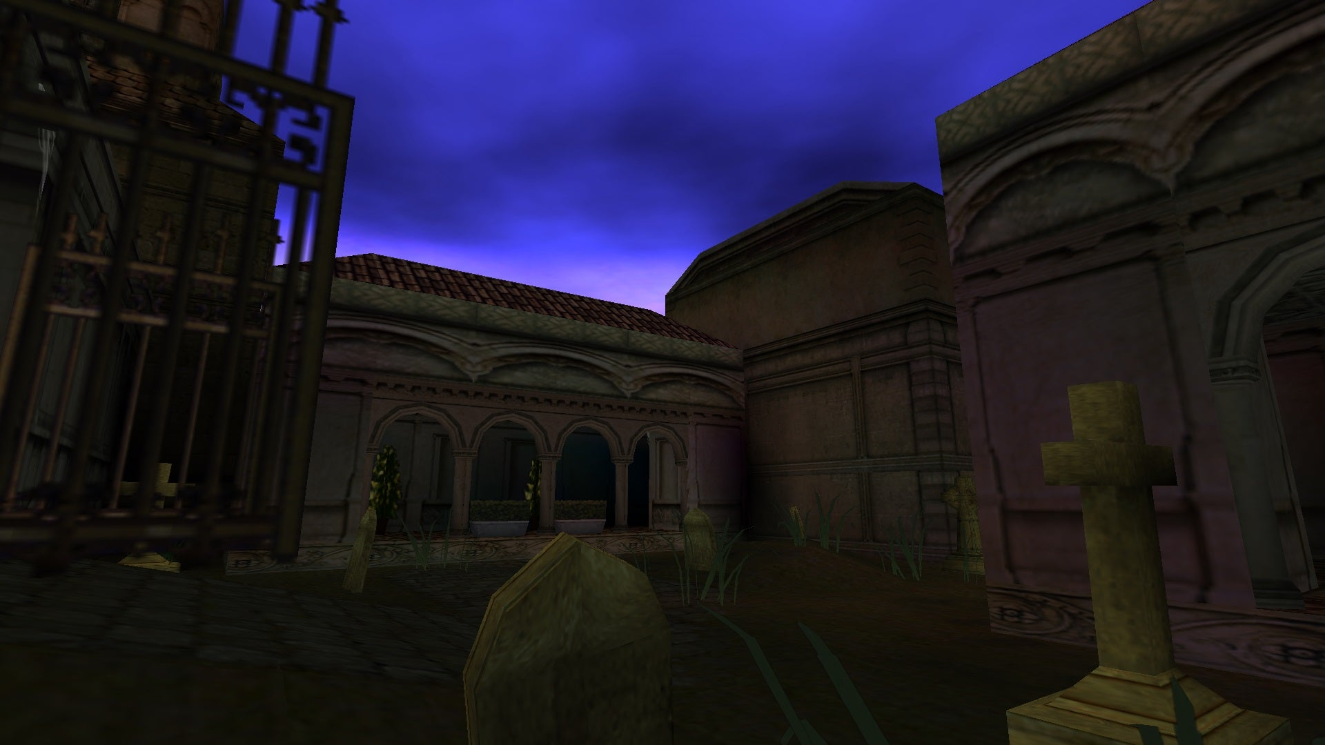 A screenshot from the Tomb Raider custom level called Art History