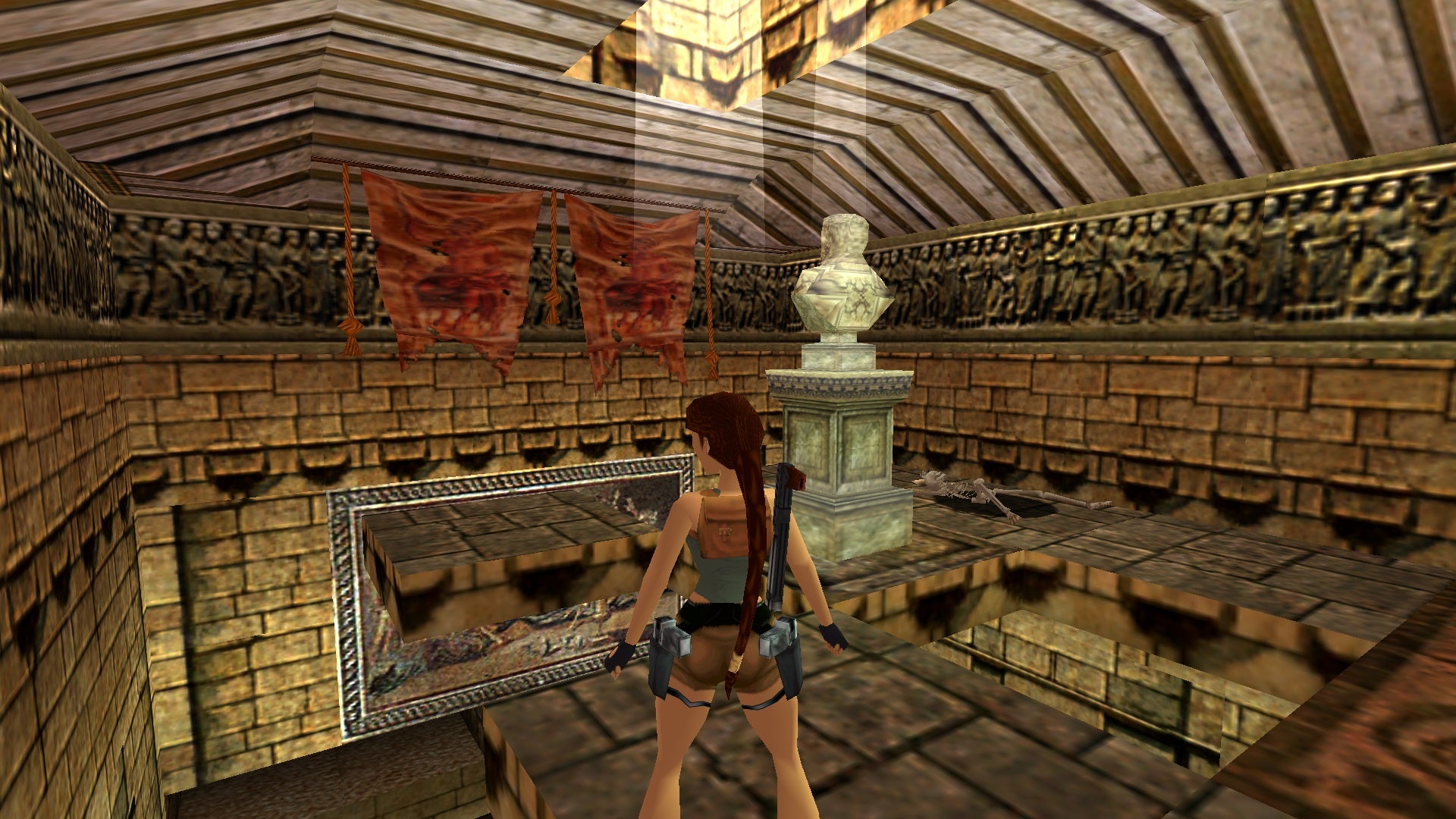 A screenshot from the Tomb Raider custom level called The Colosseum