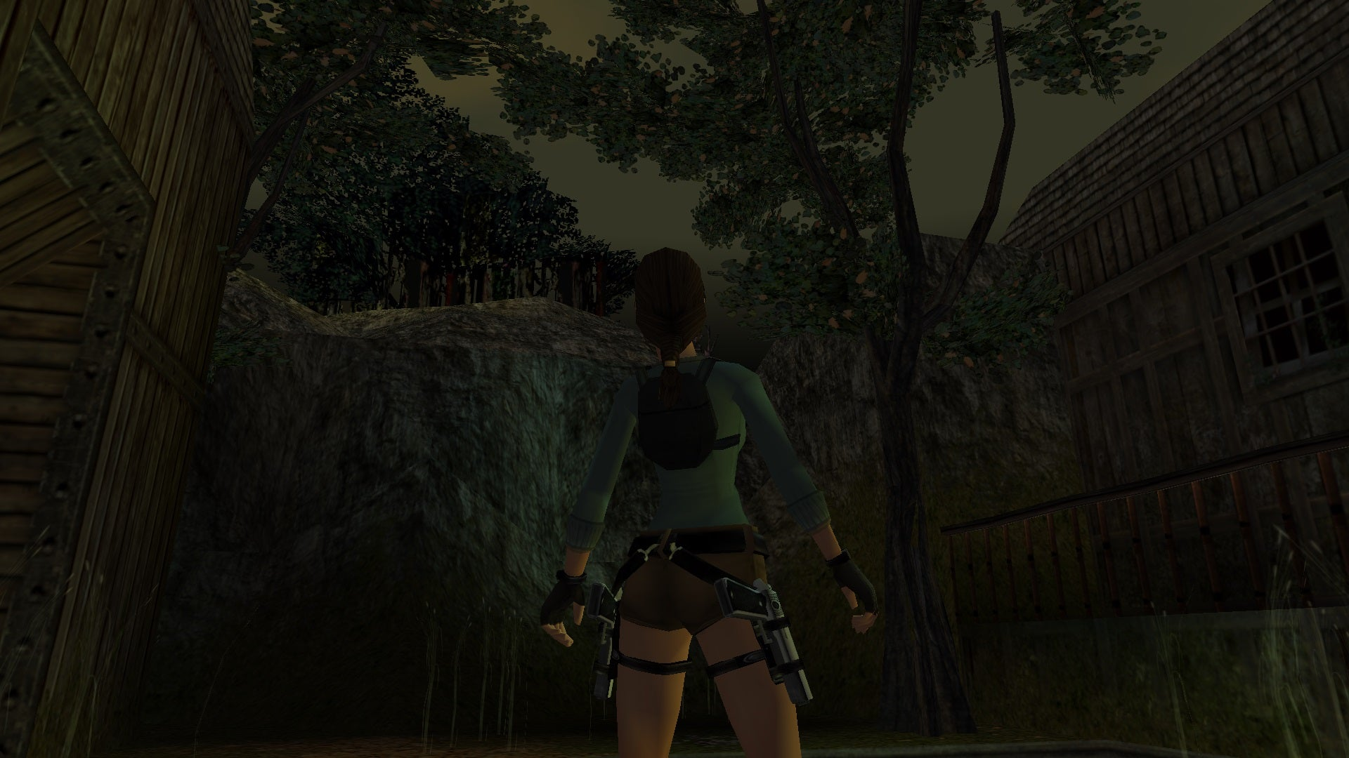 A screenshot from the Tomb Raider custom level called Ancient Artifact II