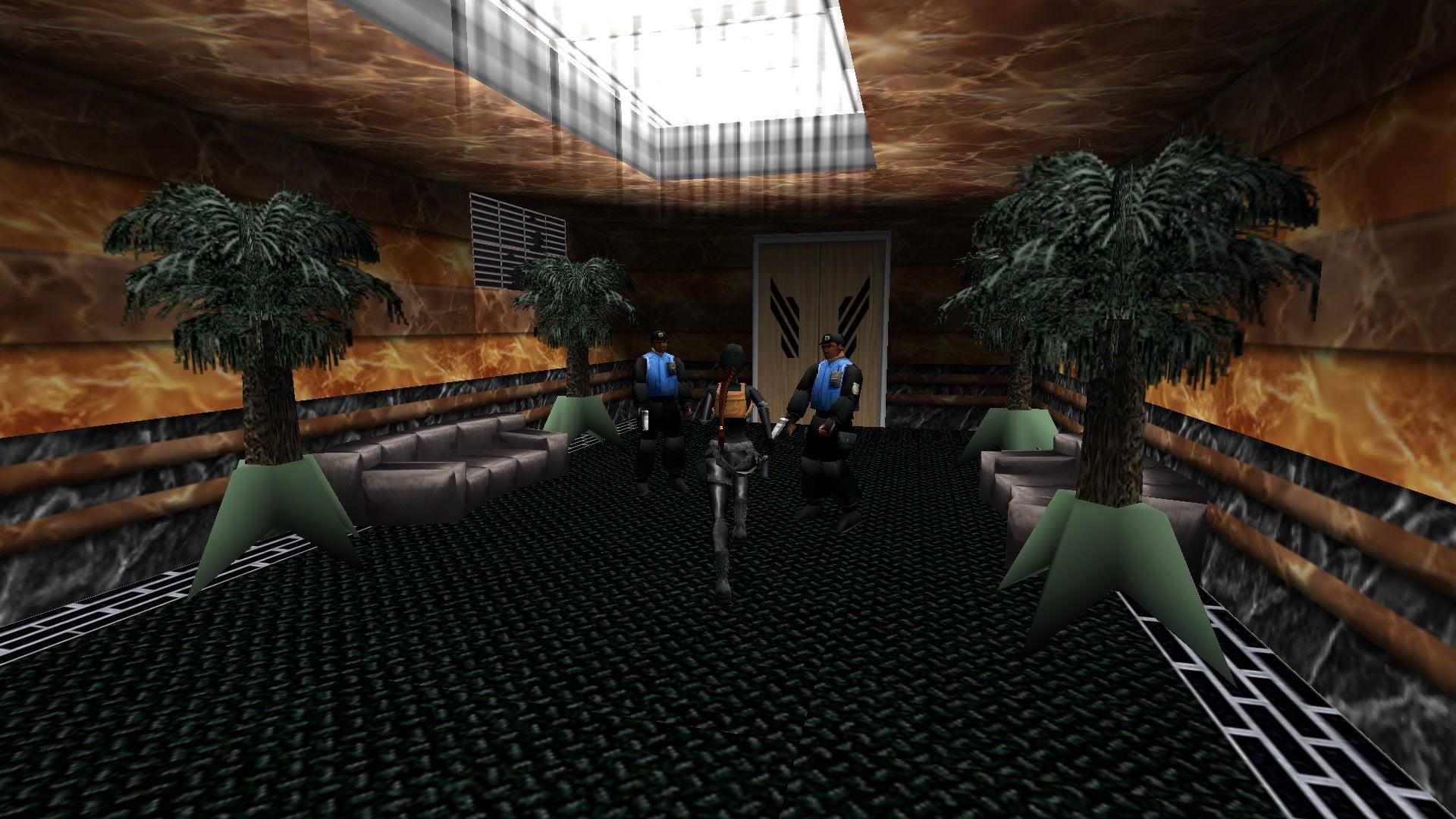 A screenshot from the Tomb Raider custom level called Egypt Again...Again