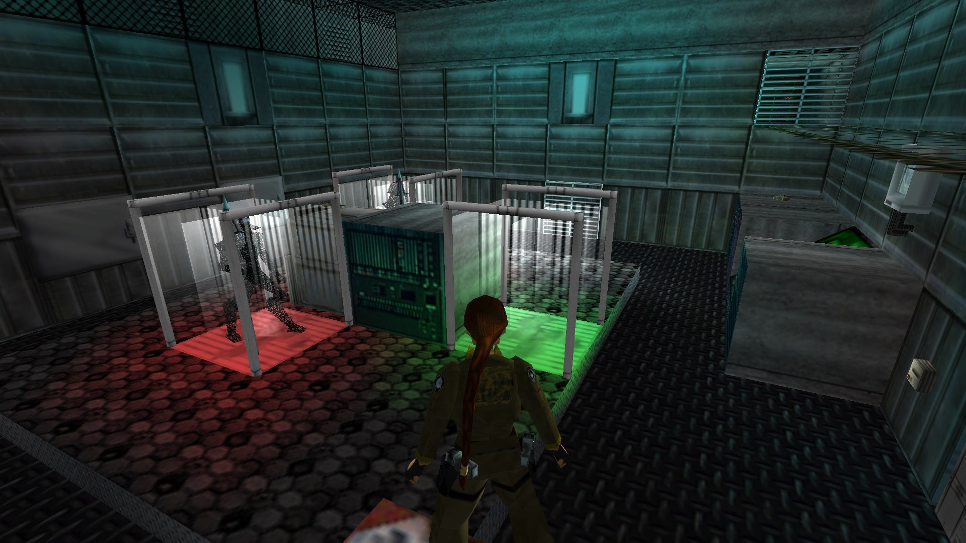 A screenshot from the Tomb Raider custom level called Genesis Project