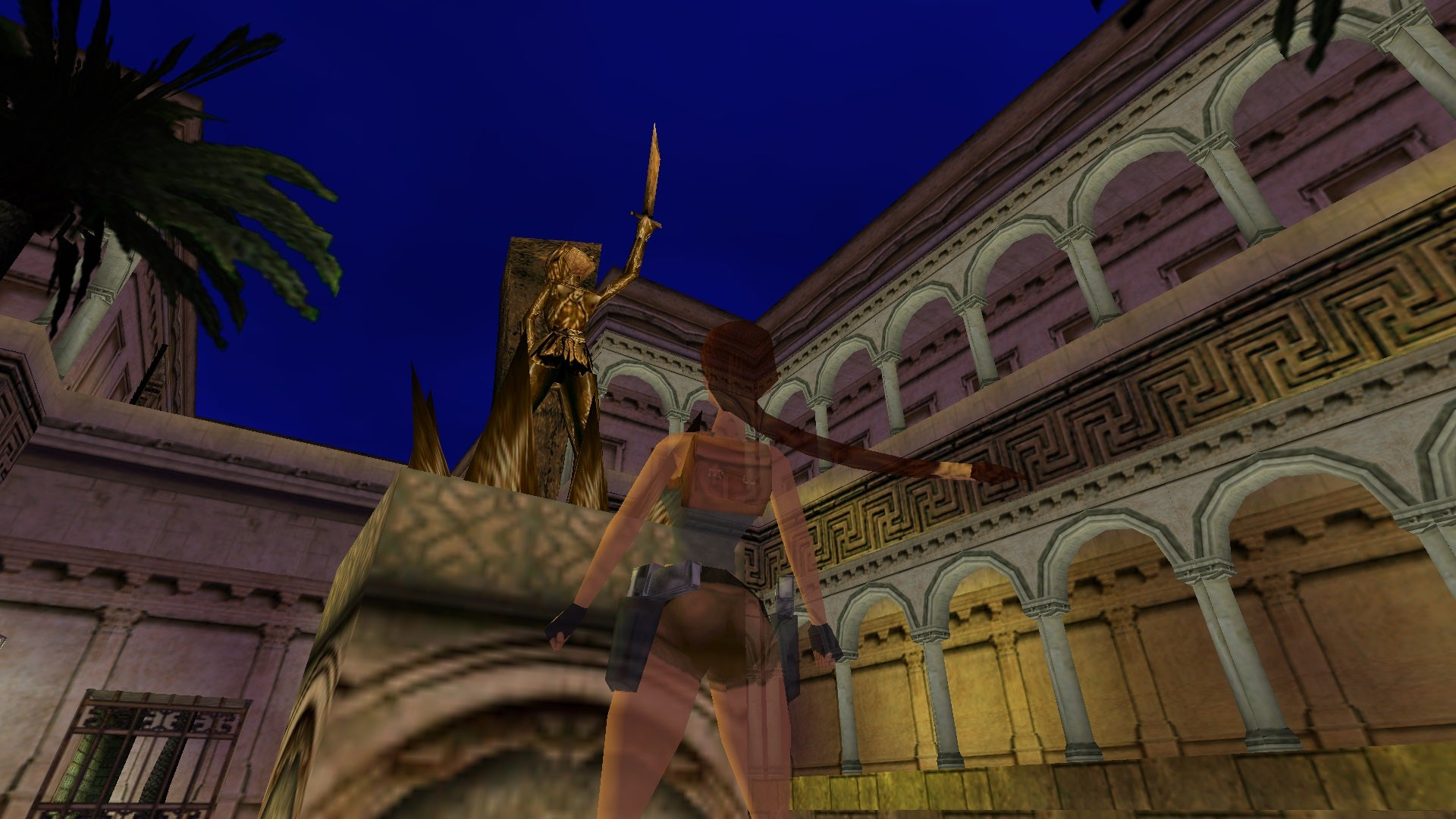 A screenshot from the Tomb Raider custom level called The Mystery of Eden
