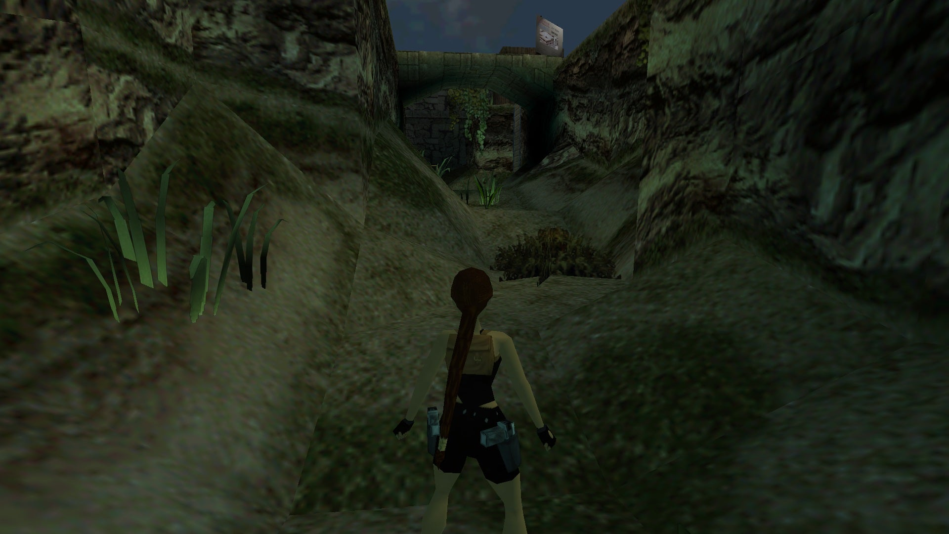 A screenshot from the Tomb Raider custom level called Eclipse over Knossos
