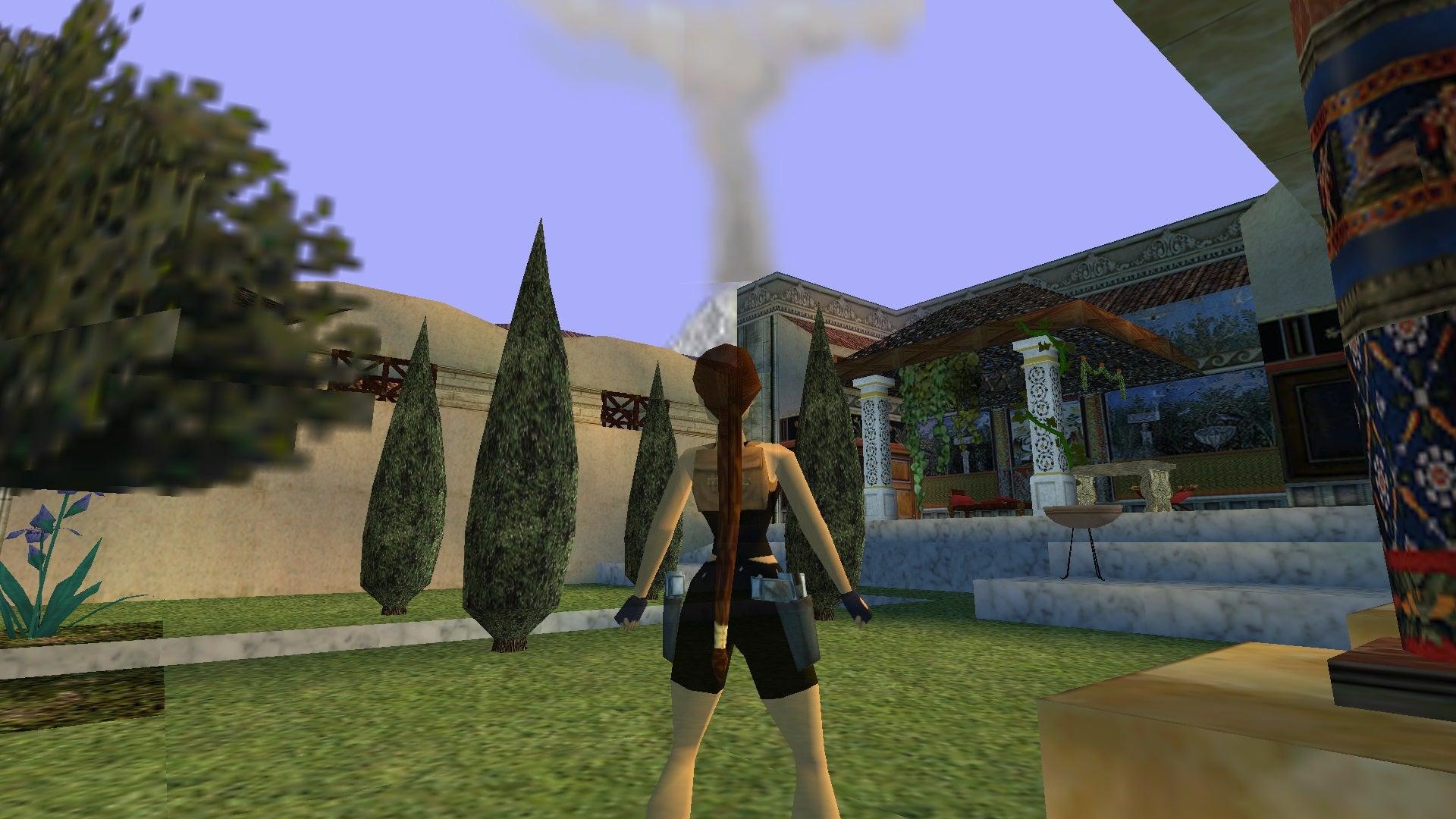 A screenshot from the Tomb Raider custom Shadow of Vesuvius