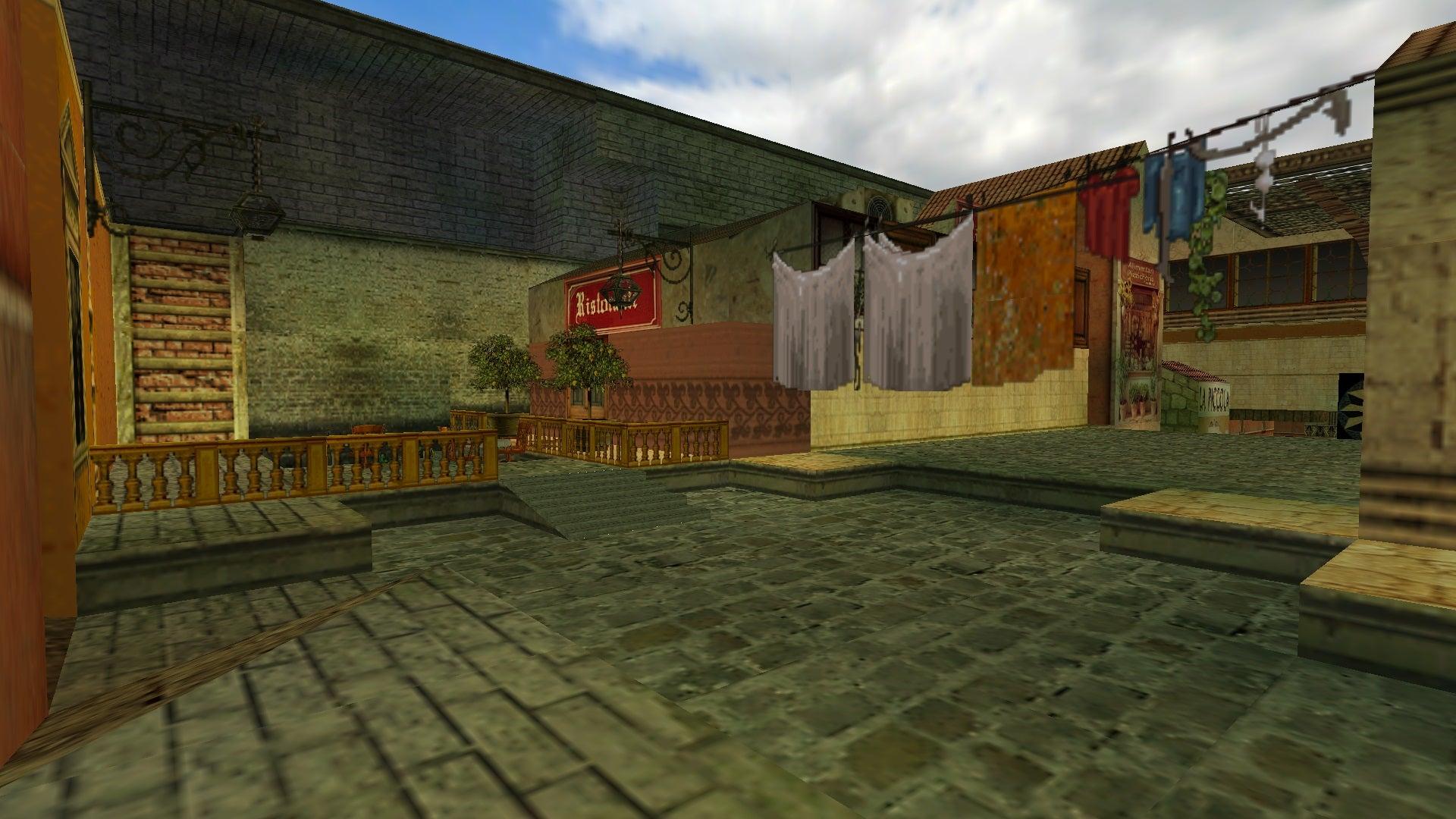 A screenshot from the Tomb Raider custom level called Italian Exploration